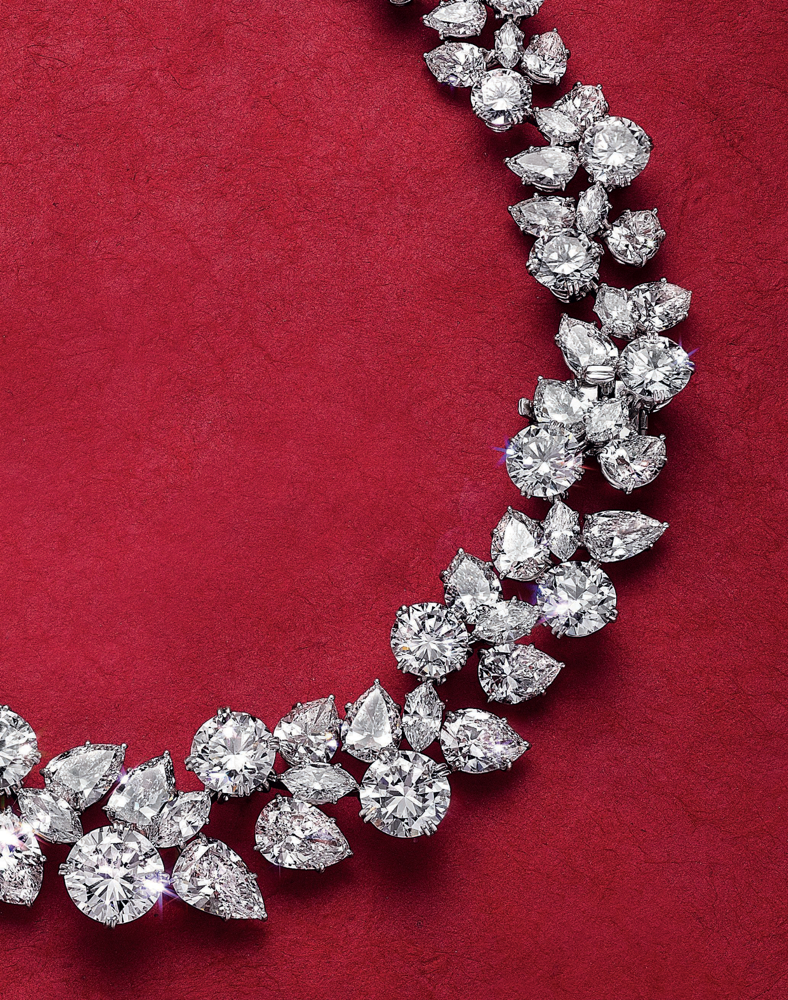 Christie's New York Magnificent Jewels Totals $62,592,750 Pertaining To Best And Newest Diamond Wreath Necklaces (Gallery 15 of 25)