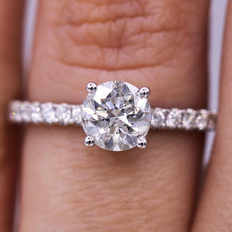 Classic And Timeless 1.08 Carat Round Cut Diamond Engagement Ring 35% Off  Retail With Regard To Round Brilliant Diamond Engagement Rings (Gallery 4 of 25)