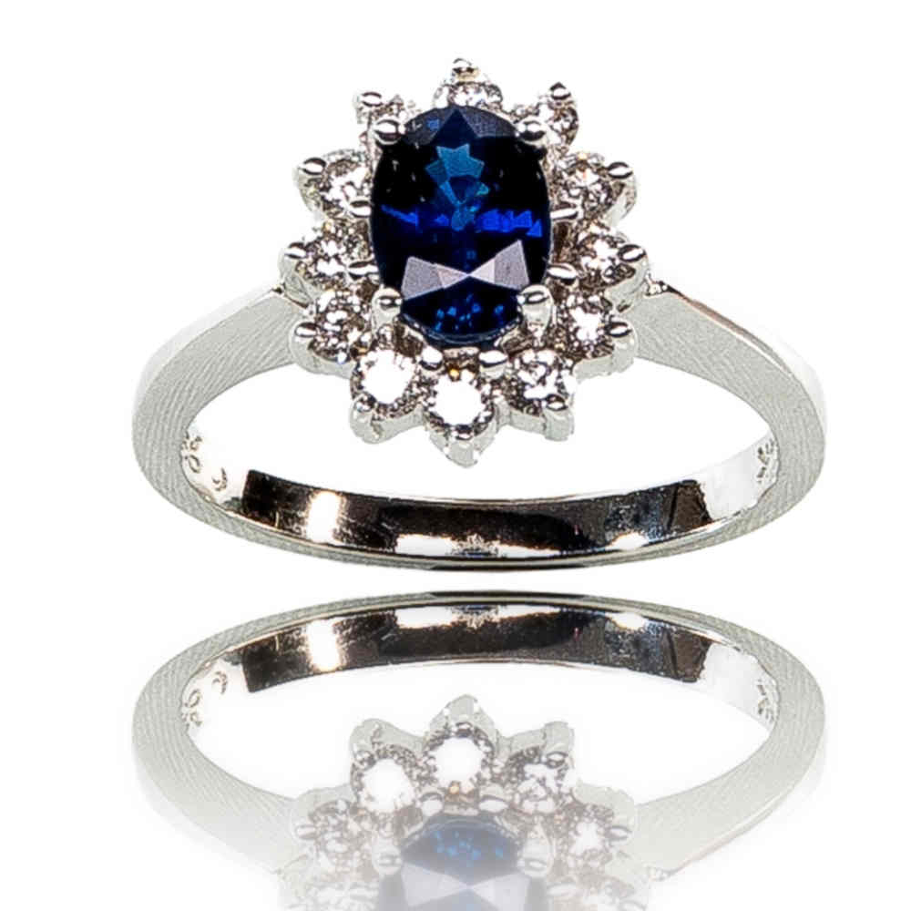 Classic Blue! With Regard To Most Up To Date Prong Set Round Brilliant Sapphire And Diamond Wedding Bands (Gallery 25 of 25)