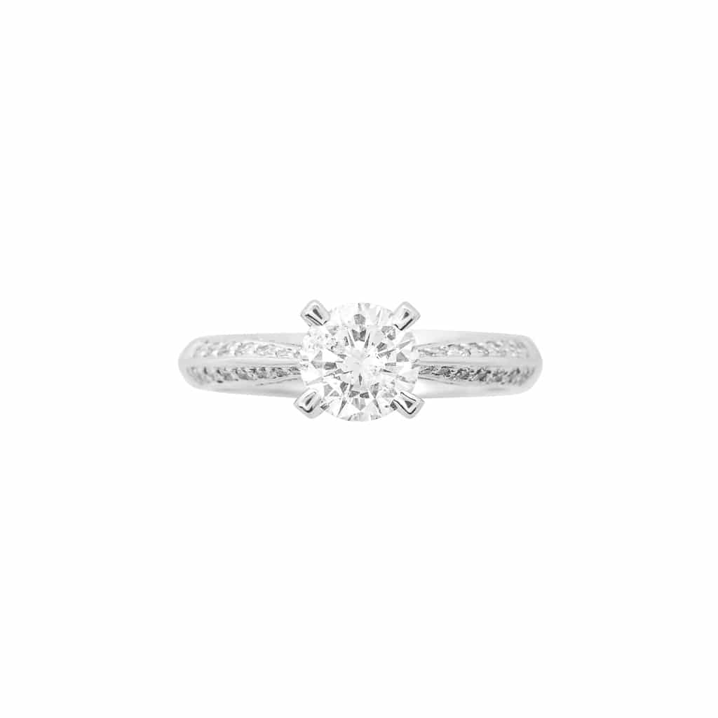 "Classic Diamond Engagement Ring – ""head Over Heels"" Pertaining To Brilliant Love Diamond Engagement Rings (View 17 of 25)"