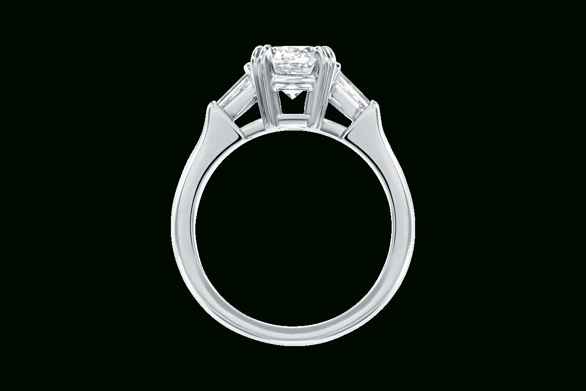 Classic Winston™ Engagement Ring | Harry Winston Inside Round Brilliant Engagement Rings With Tapered Baguette Side Stones (View 7 of 25)