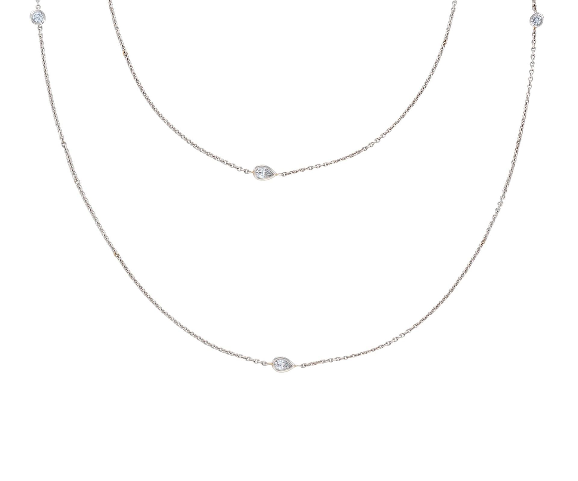 Clea Sautoir White Gold Diamond Necklace | De Beers Pertaining To 2019 White Gold Diamond Sautoir Necklaces (View 4 of 25)