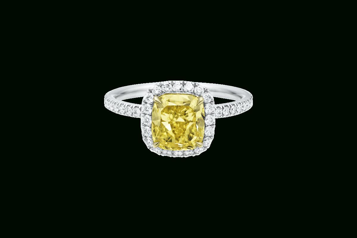 Featured Photo of Cushion Cut Yellow Diamond Micropavé Rings