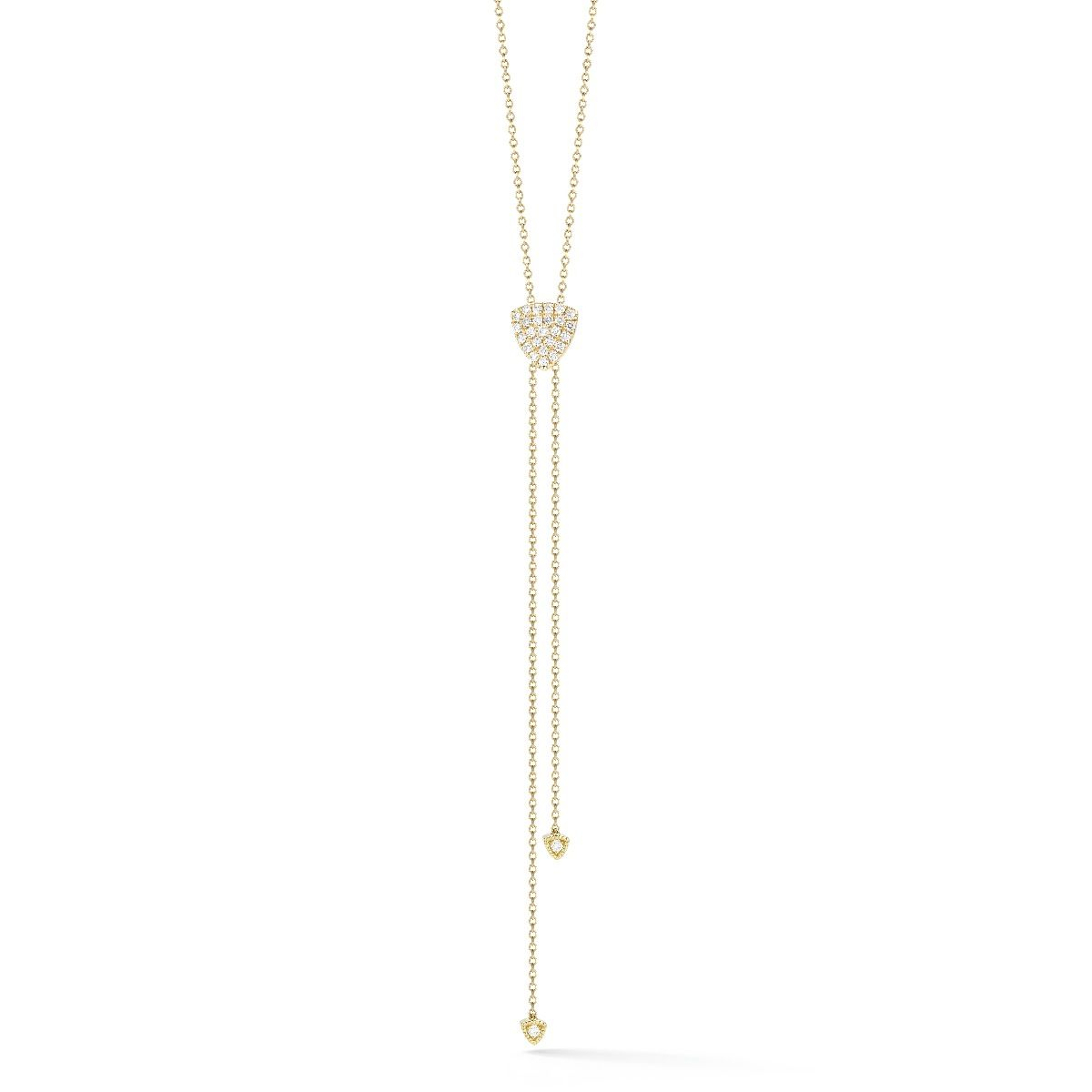 "Dana Rebecca ""emily Sarah"" Sliding Diamond Lariat – N1115 For Most Recent Round Brilliant Diamond Lariat Necklaces (View 9 of 25)"