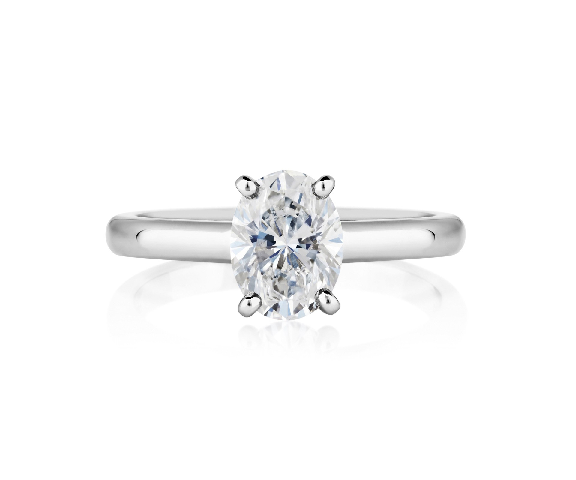 Db Classic Oval Cut Solitaire Ring Regarding Most Recent Prong Set Oval Shaped Diamond Wedding Bands (View 14 of 25)
