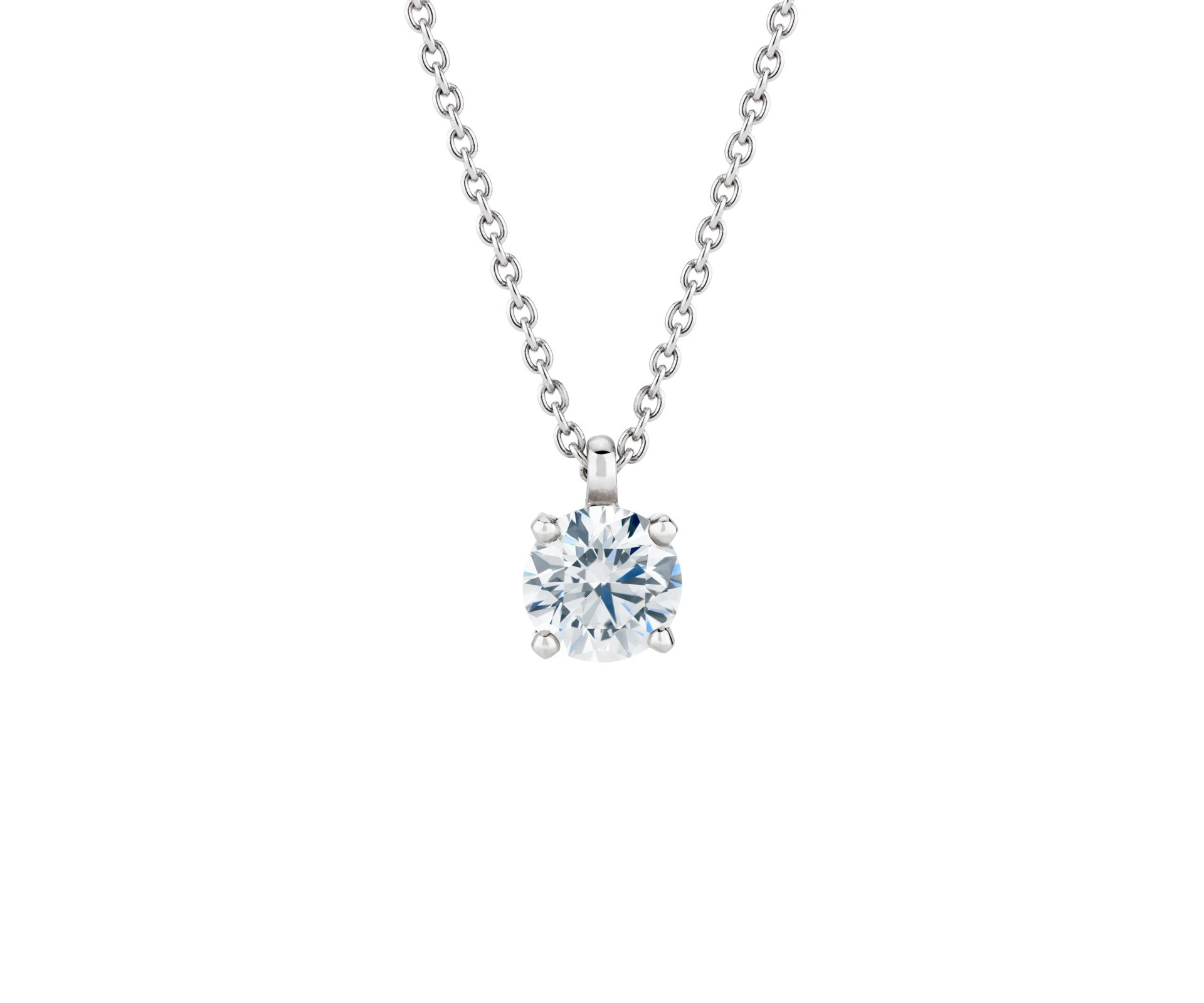 Db Classic Pendant Within Most Recently Released Diamond Necklaces In Platinum (View 17 of 25)
