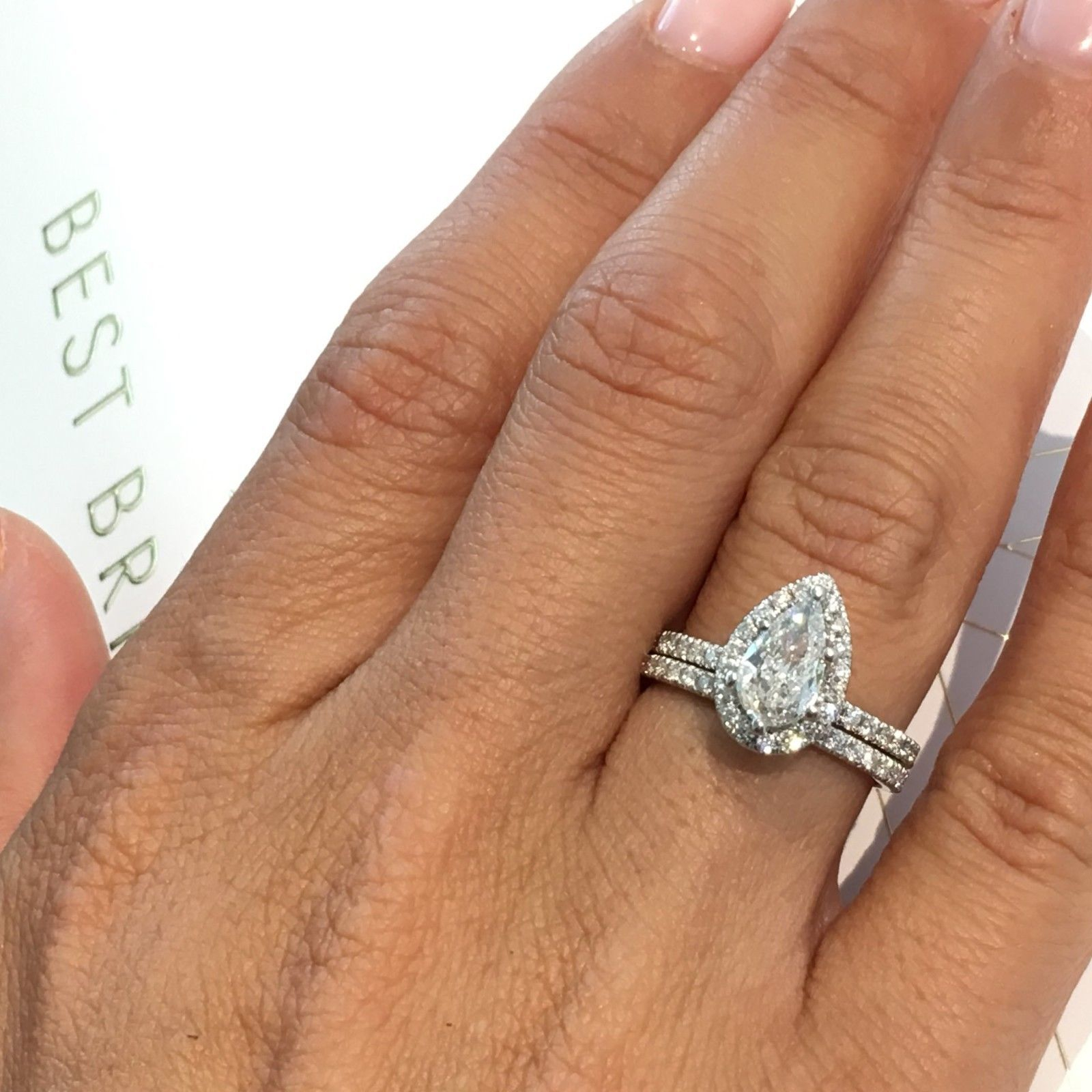 Details About 14k White Gold Diamond Engagement Wedding Ring Set (View 8 of 25)