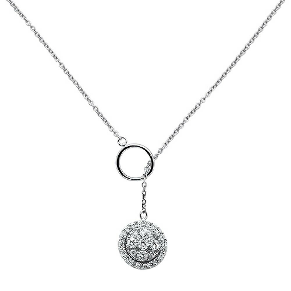 "Details About .52Ct G Si 14K White Gold Chain Lariat Diamond Pendant  Necklace 18"" Long In 2020 Lariat Diamond Necklaces (Gallery 8 of 25)"