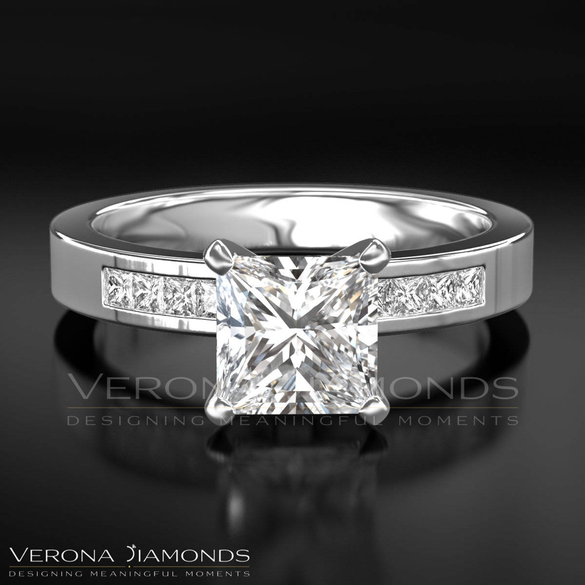 Details About Diamond Engagement Ring  (View 11 of 25)