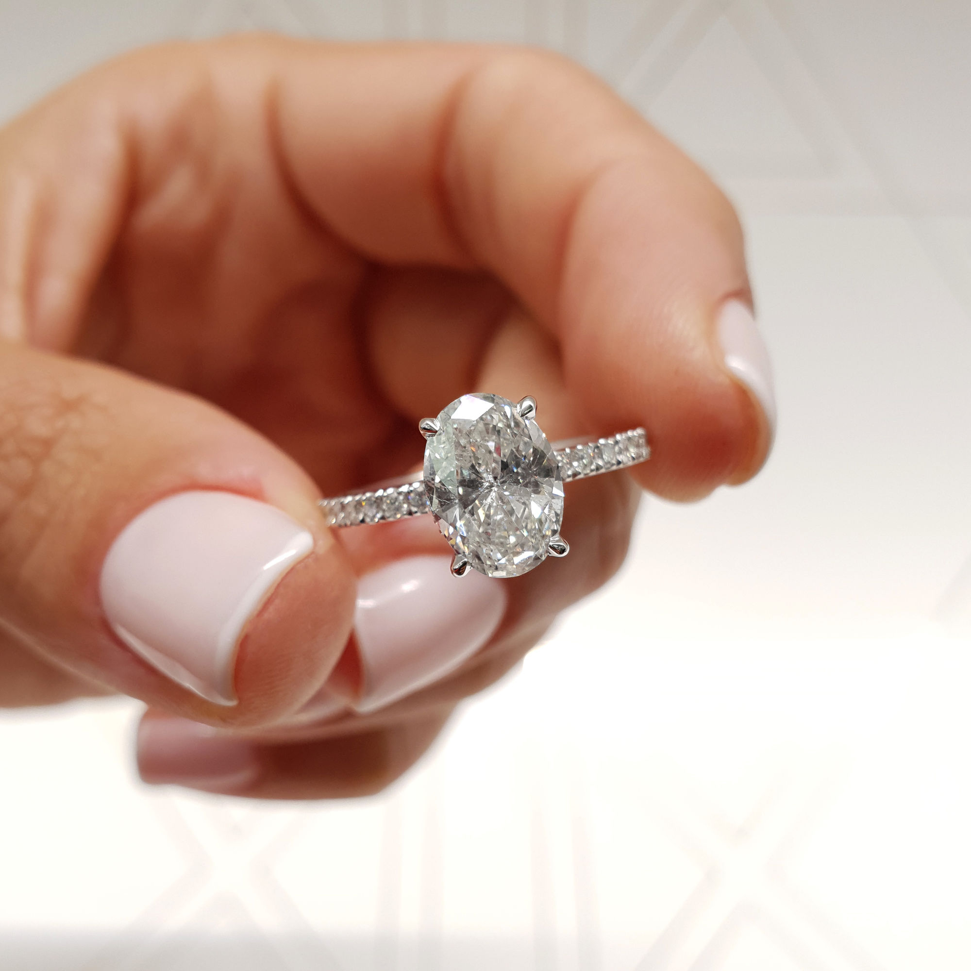Details About Gia Certified 1.52 Carat Oval Cut D – Vs2 Hidden Halo Diamond  Engagement Ring Throughout Oval Shaped Engagement Rings (Gallery 9 of 25)