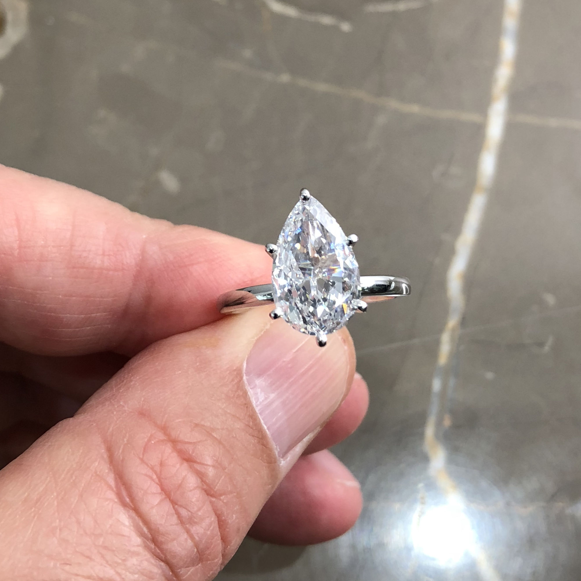 Details About Gia Certified 2.01 Carat Pear Shape F – Vs2 Solitaire Diamond  Engagement Ring Throughout Pear Shaped Engagement Rings (Gallery 5 of 25)