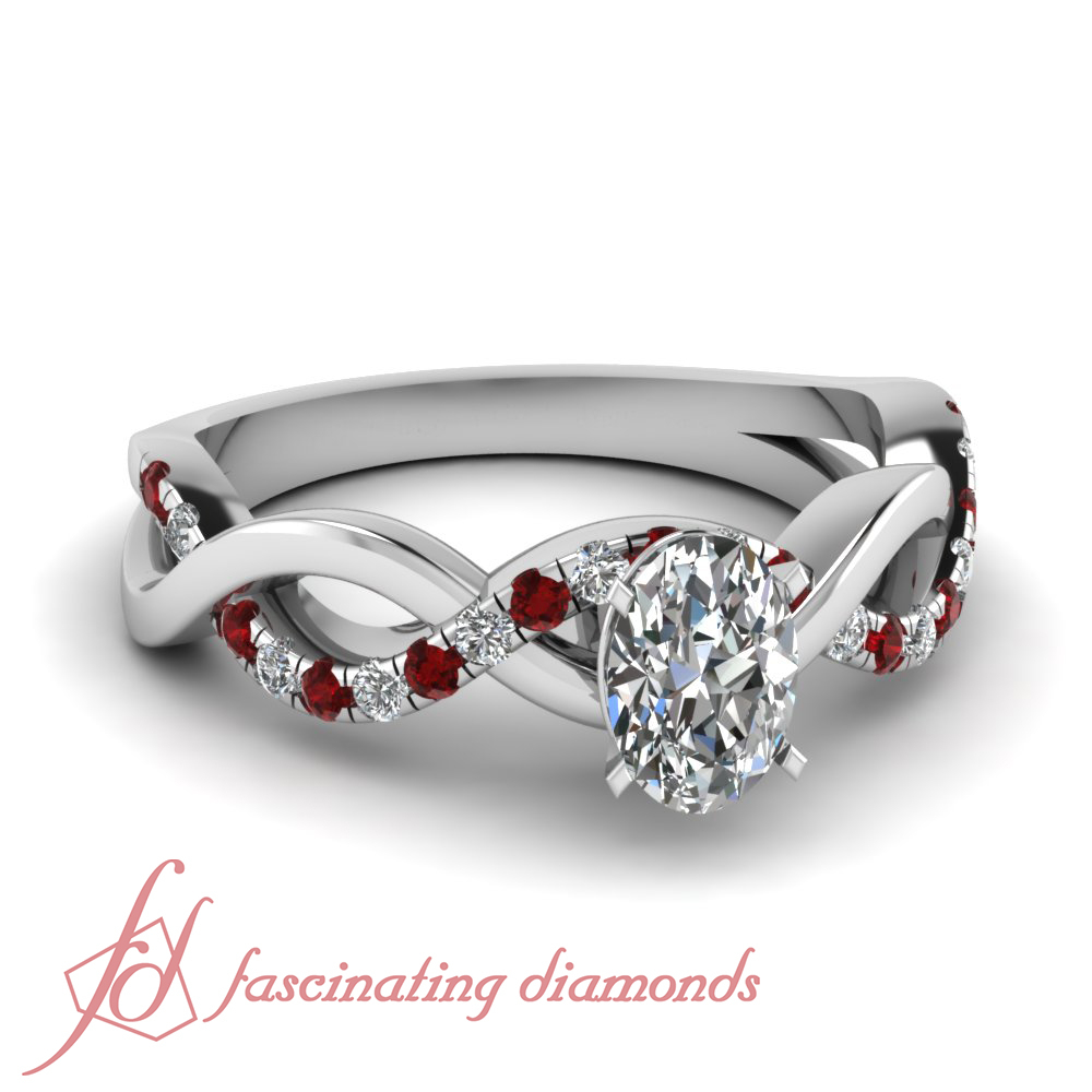 Details About Pave Set Round Ruby Engagement Ring 0.70 Ct Oval Shaped  Vvs2 G Color Diamond Gia Regarding Oval Shaped Ruby Micropavé Rings (Gallery 13 of 25)