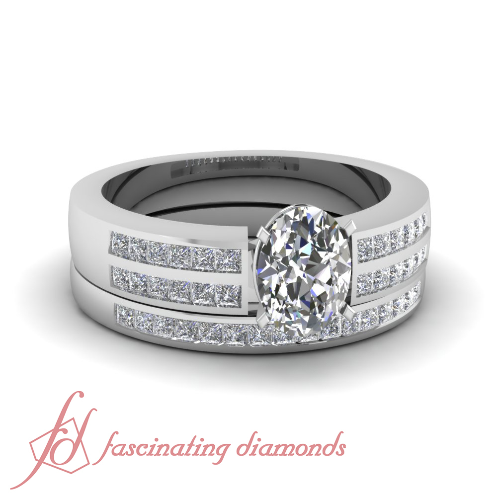 Details About Platinum Oval Shaped Conflict Free Diamond Wedding Ring  Channel Set 1 Carat Gia For Newest Prong Set Oval Shaped Diamond Wedding Bands (Gallery 25 of 25)