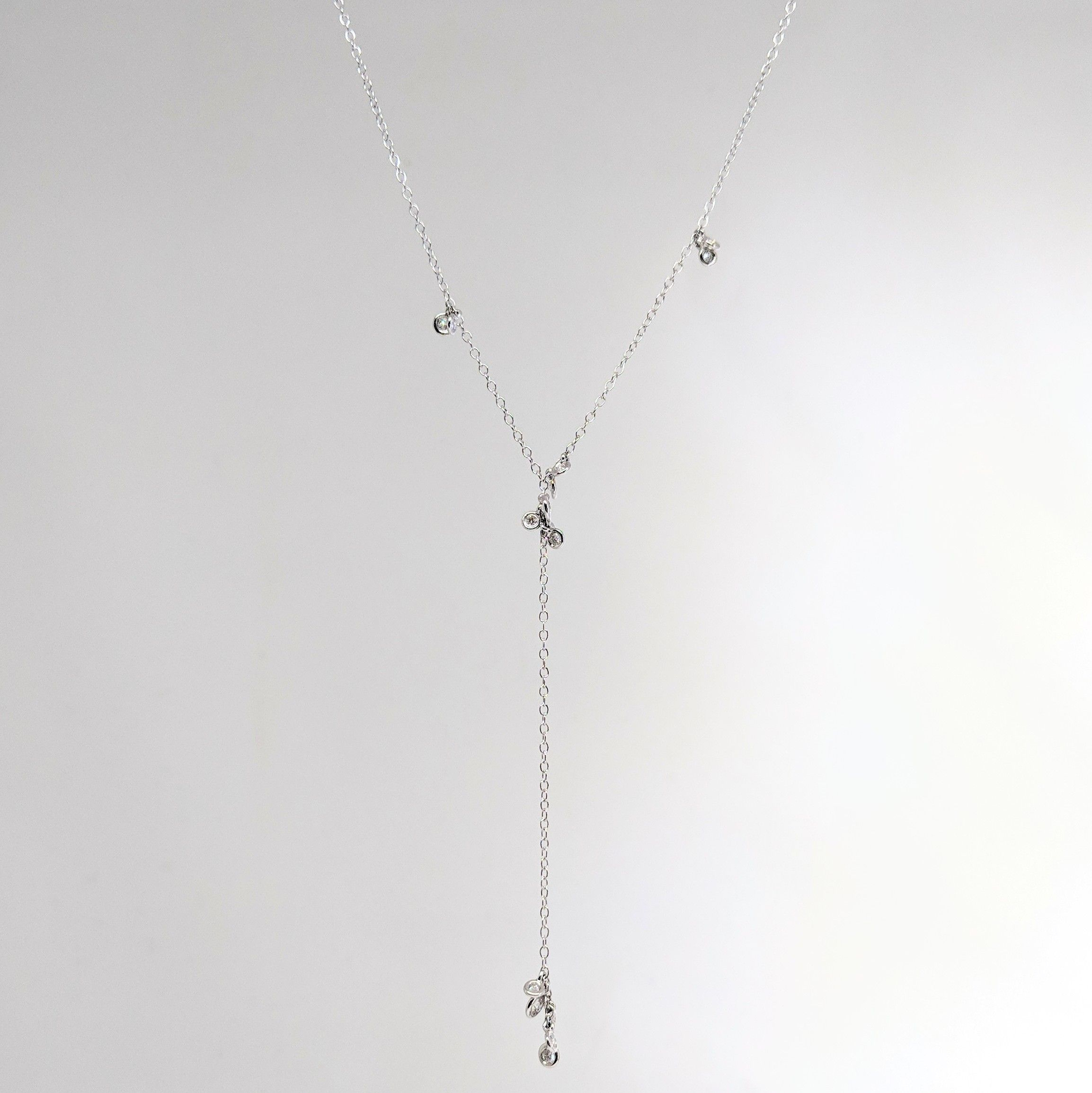 Diamond Cluster Lariat Necklace For Newest Lariat Diamond Necklaces (Gallery 19 of 25)