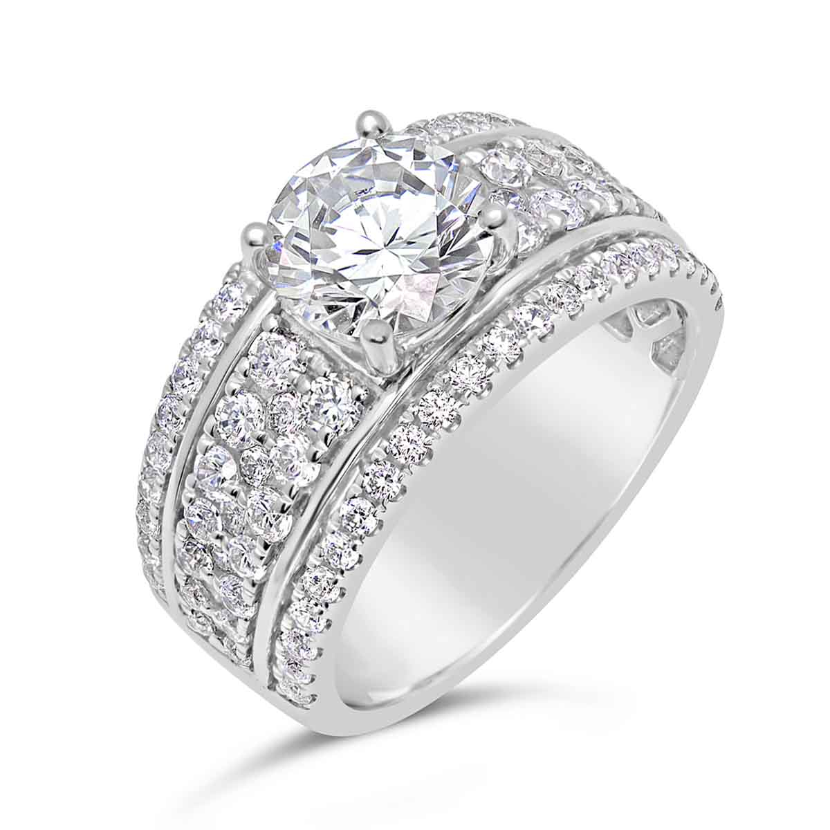 Diamond Engagement Ring With Wide Band – The Diamond Guys Collection With Current Wide Diamond Wedding Bands (Gallery 23 of 25)