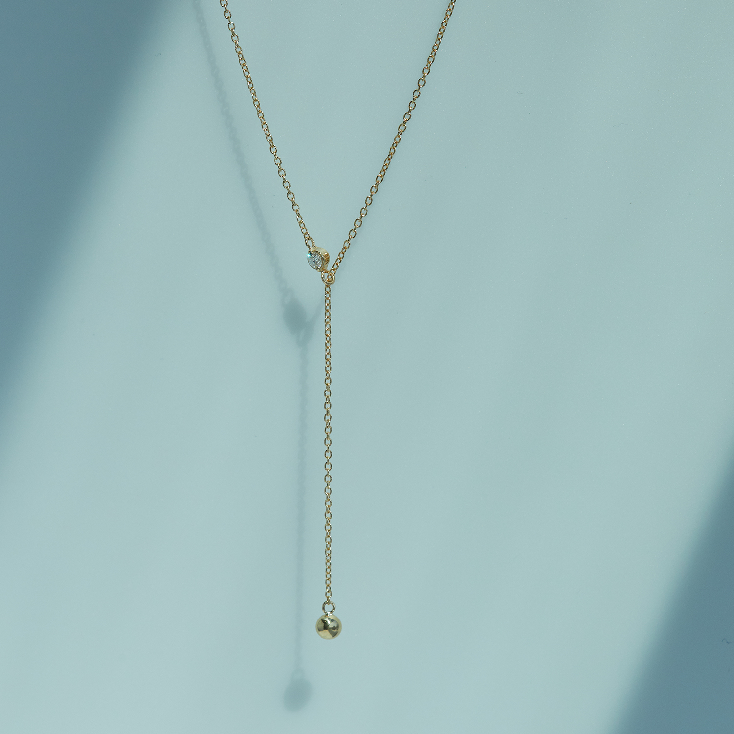 Diamond Greco Lariat Necklace With Regard To Most Recent Round Brilliant Diamond Lariat Necklaces (View 5 of 25)