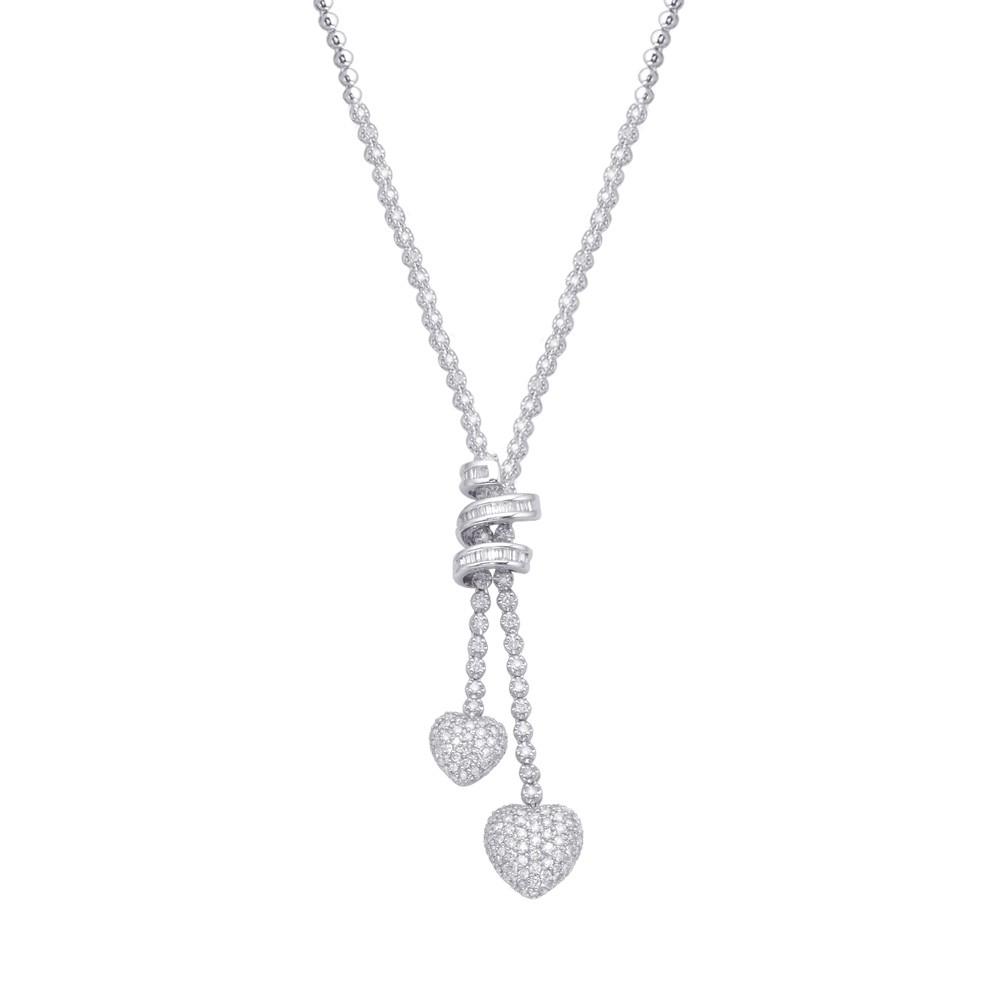 Diamond Lariat Necklace For 2019 Round Brilliant Diamond Lariat Necklaces (View 14 of 25)