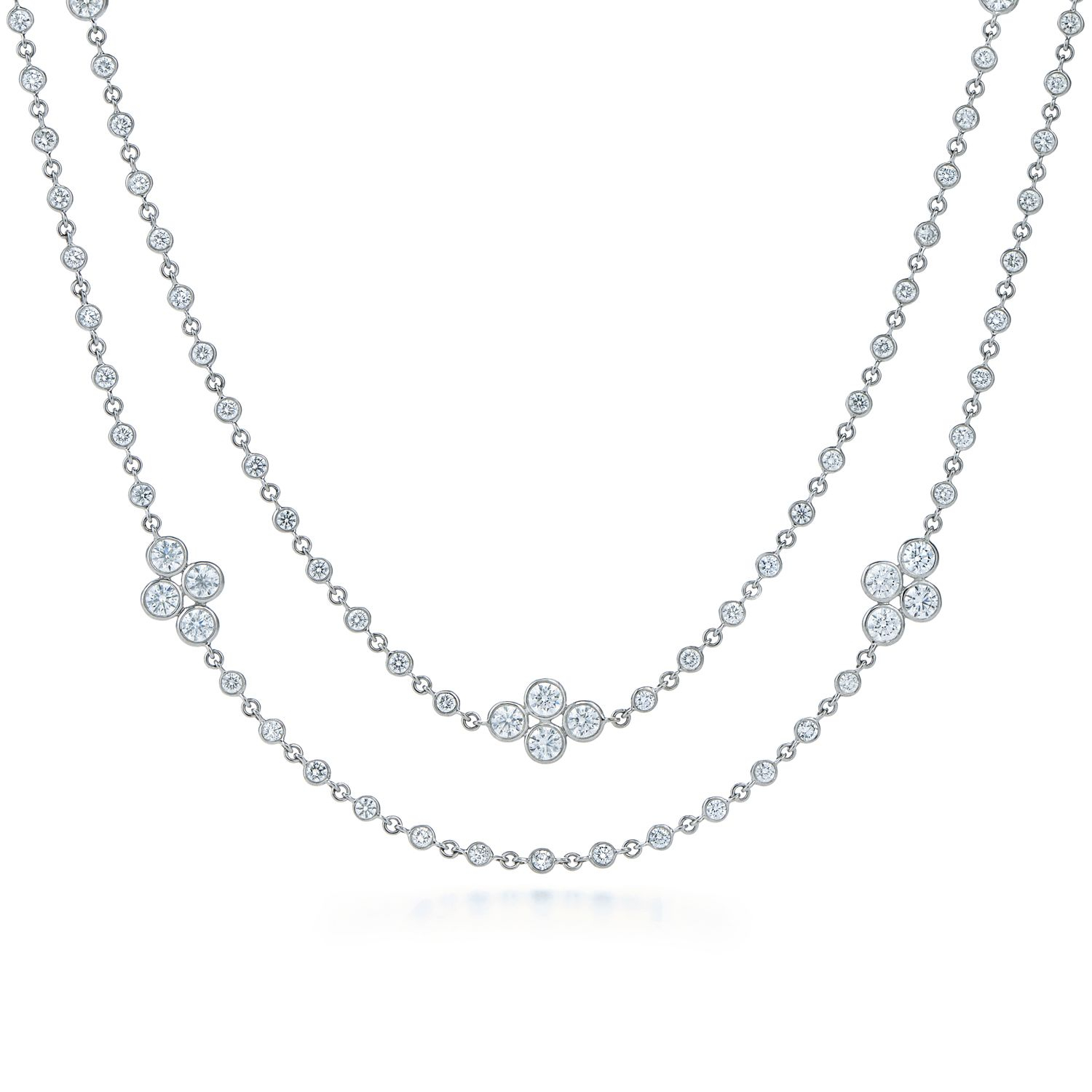 Diamond Necklace In 18k White Gold (View 16 of 25)