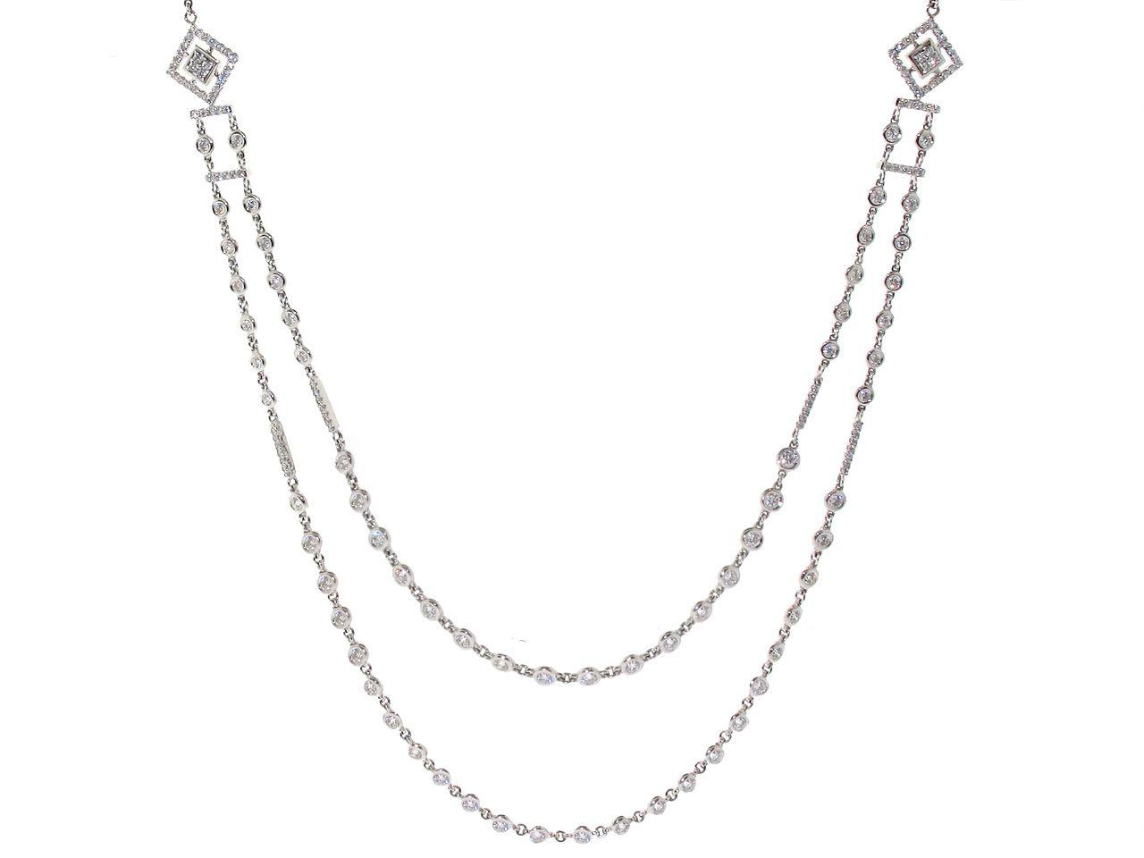 Diamond Sautoir Necklace In 18k | Divine Diamonds | Jewelry With Regard To Newest White Gold Diamond Sautoir Necklaces (View 3 of 25)