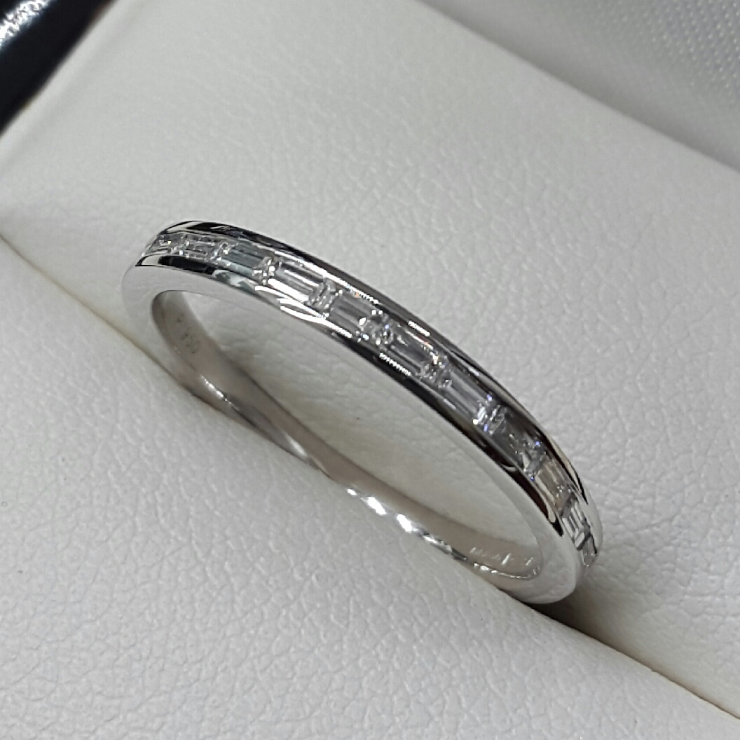Diamond Set Wedding/eternity Rings Intended For Most Recently Released Channel Set Round Brilliant And Baguette Cut Diamond Wedding Bands (Gallery 14 of 25)