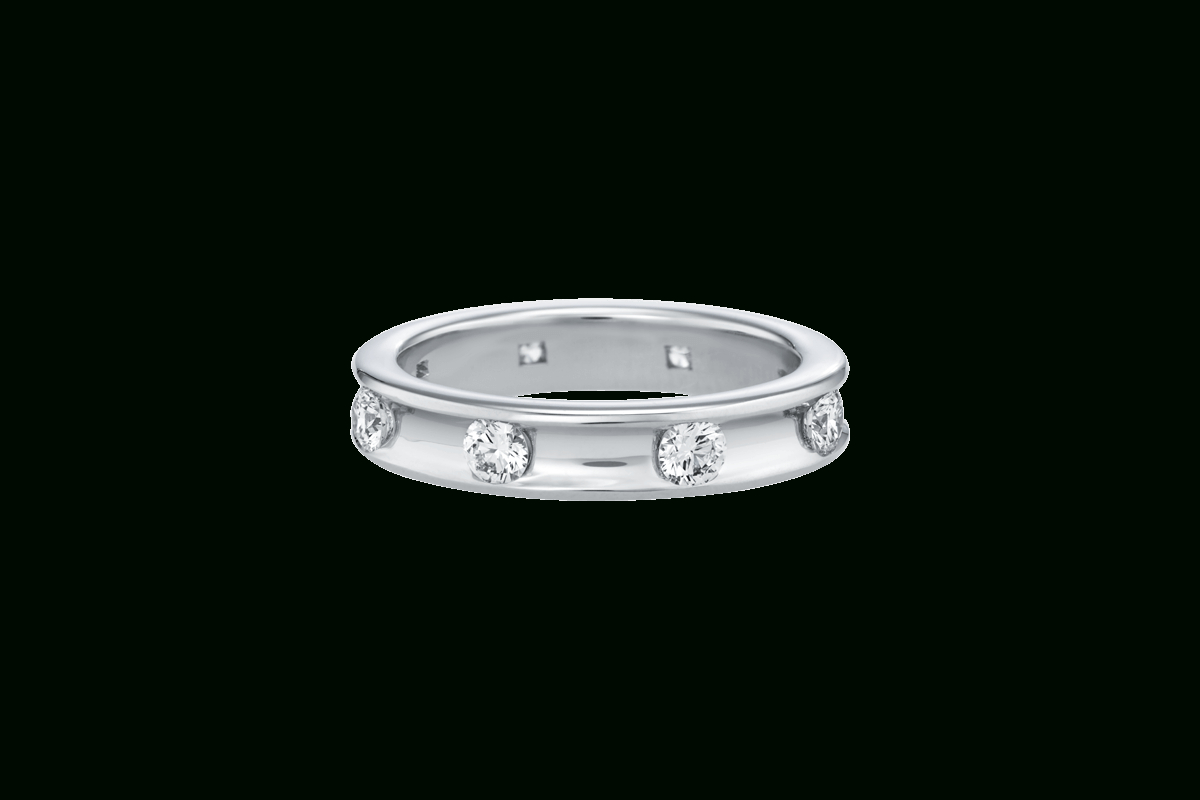 Diamond Voilà Wedding Band | Harry Winston Inside 2018 Diamond Voilà Wedding Bands (View 2 of 25)