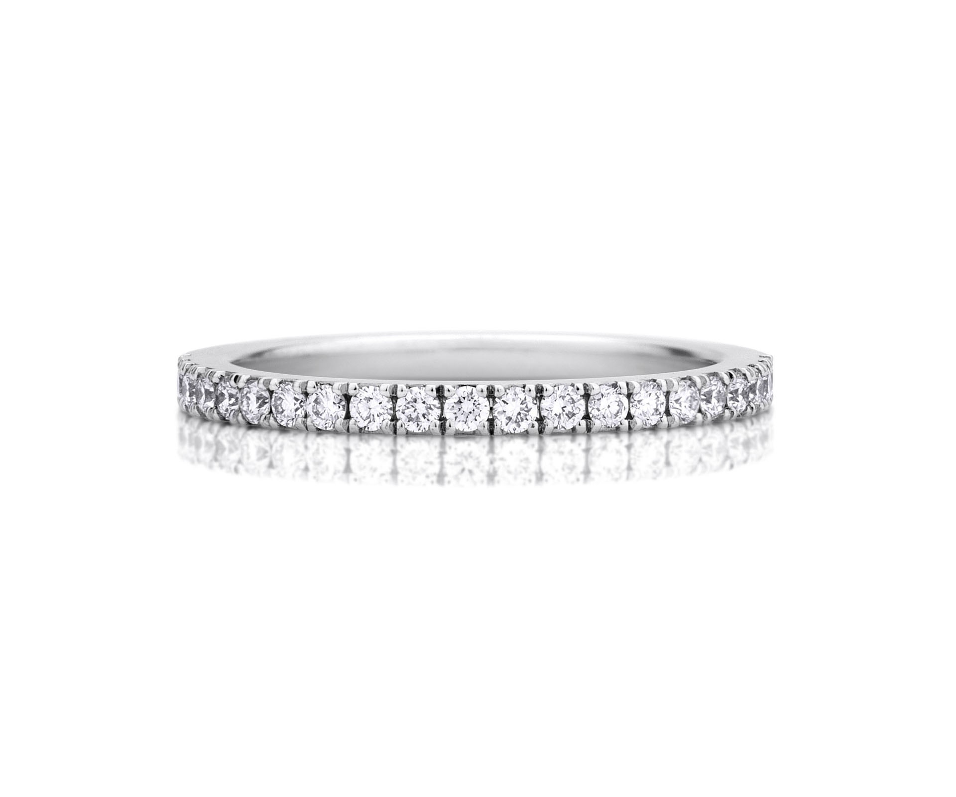 Diamond Wedding Rings & Bands | De Beers Inside Most Recently Released Full Micropavé Diamond Wedding Bands (Gallery 23 of 25)