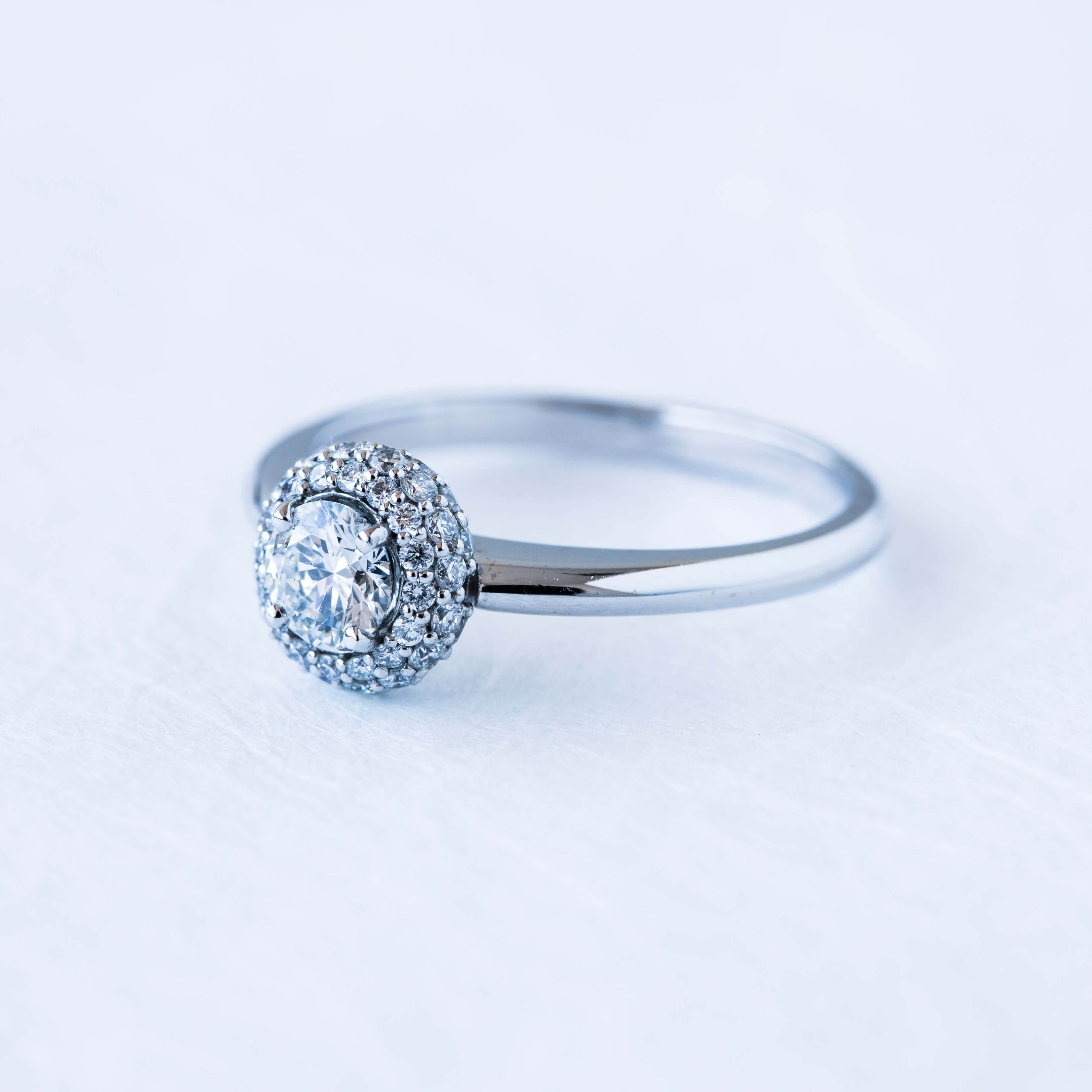 Double Micro Pavé Diamond Halo With Round Brilliant Cut For Round Brilliant Diamond Micropavé Engagement Rings (Gallery 23 of 25)