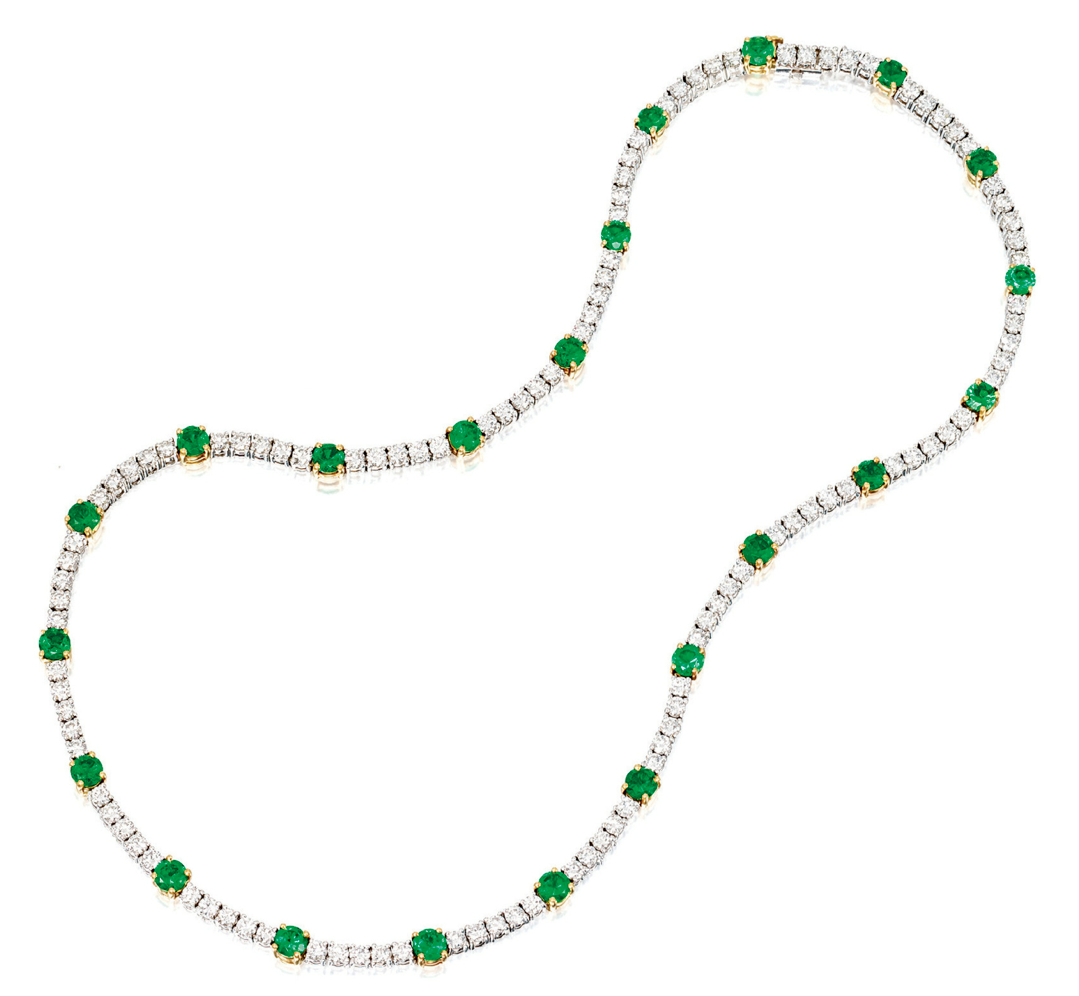 Emerald And Diamond Necklace, Tiffany & Co (View 12 of 25)