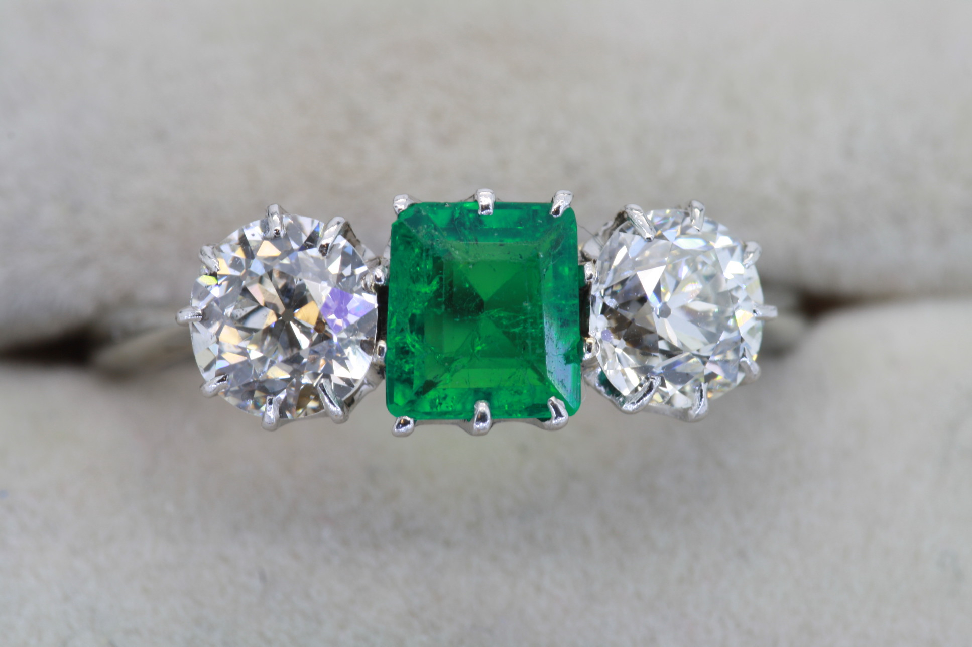 Featured Photo of Emerald And Diamond Three Stone Rings