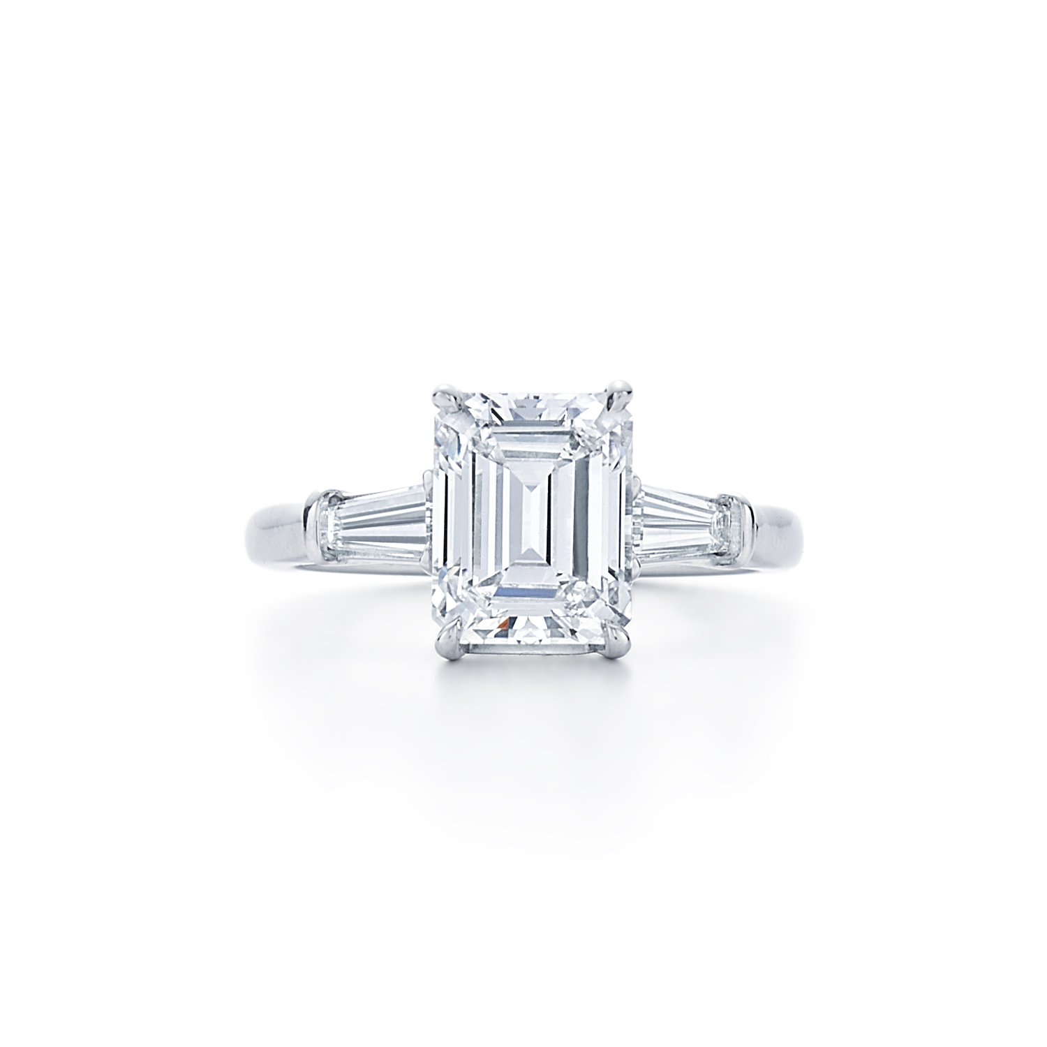 Emerald Cut Diamond Engagement Ring | Dk Gems With Cushion Cut Engagement Rings With Tapered Baguette Side Stones (View 16 of 25)