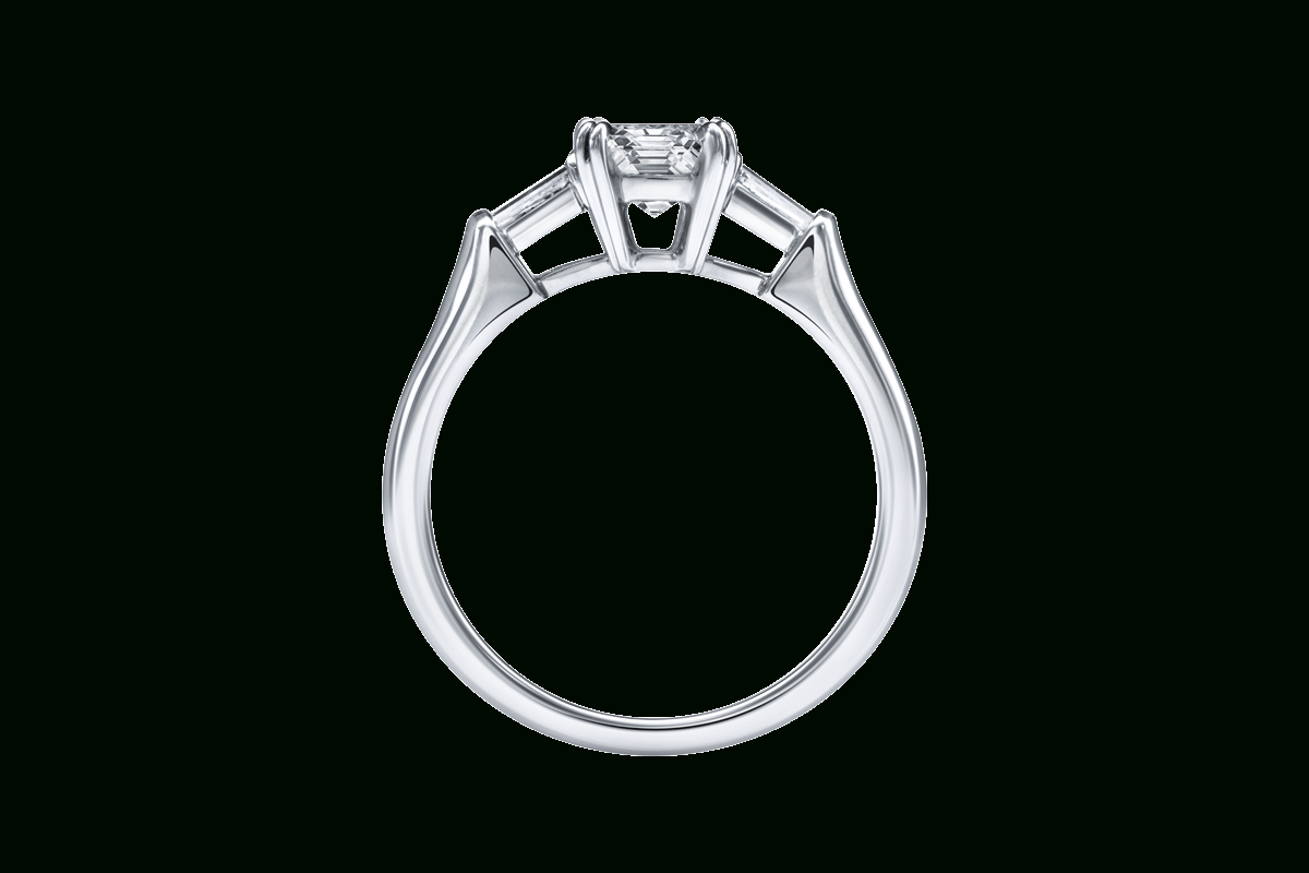 Emerald Cut Diamond Engagement Ring | Harry Winston For Emerald Cut Engagement Rings With Tapered Baguette Side Stones (View 14 of 25)