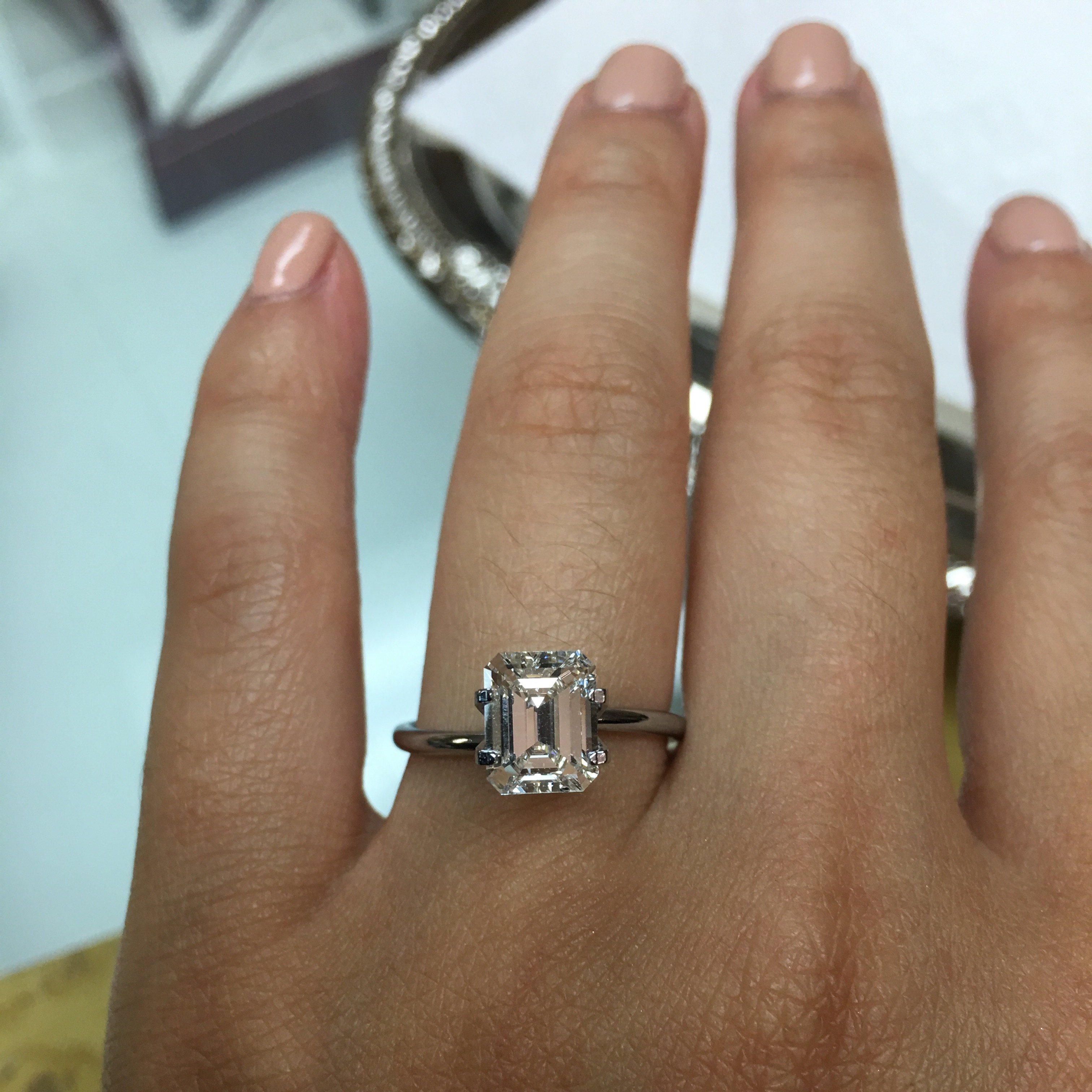 Emerald Cut Diamond Solitaire Intended For Solitaire Emerald Cut Engagement Rings (View 4 of 25)