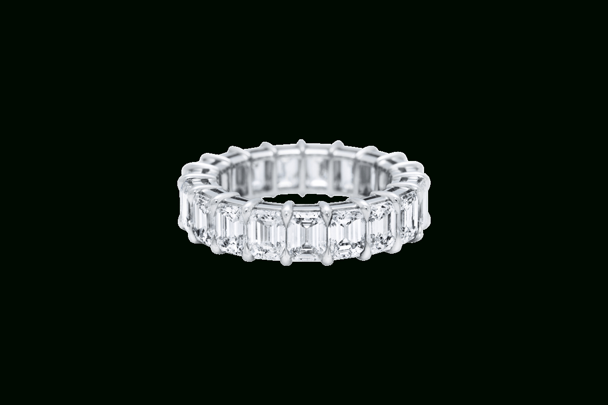 Emerald Cut Diamond Wedding Band | Harry Winston In Current Prong Set Emerald Cut Diamond Wedding Bands (View 14 of 25)