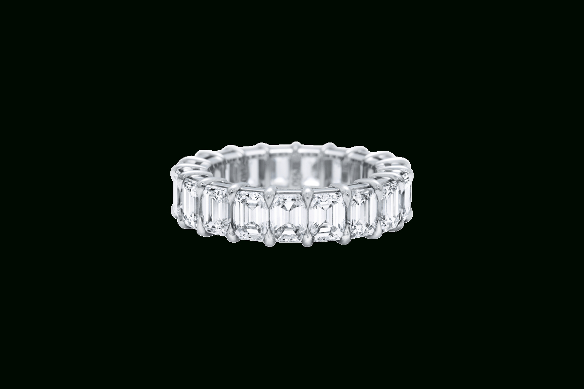 Emerald Cut Diamond Wedding Band | Harry Winston With Regard To Most Recently Released Prong Set Emerald Cut Diamond Wedding Bands (Gallery 2 of 25)