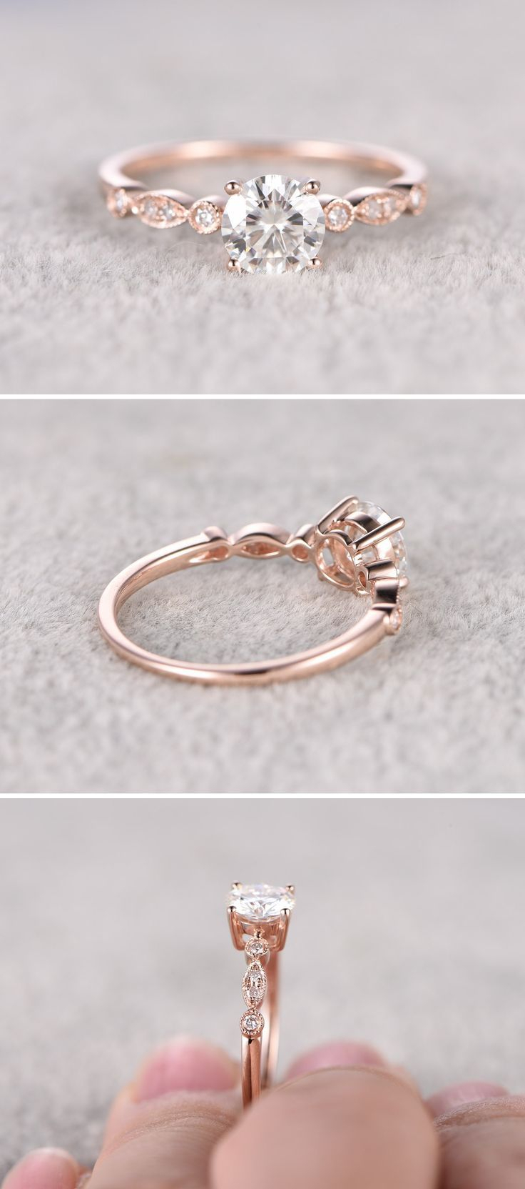 Engagement Ring Ideas | Rings | Wedding Rings Simple For Most Up To Date Princess Cut Single Diamond Wedding Bands In Rose Gold (View 14 of 25)