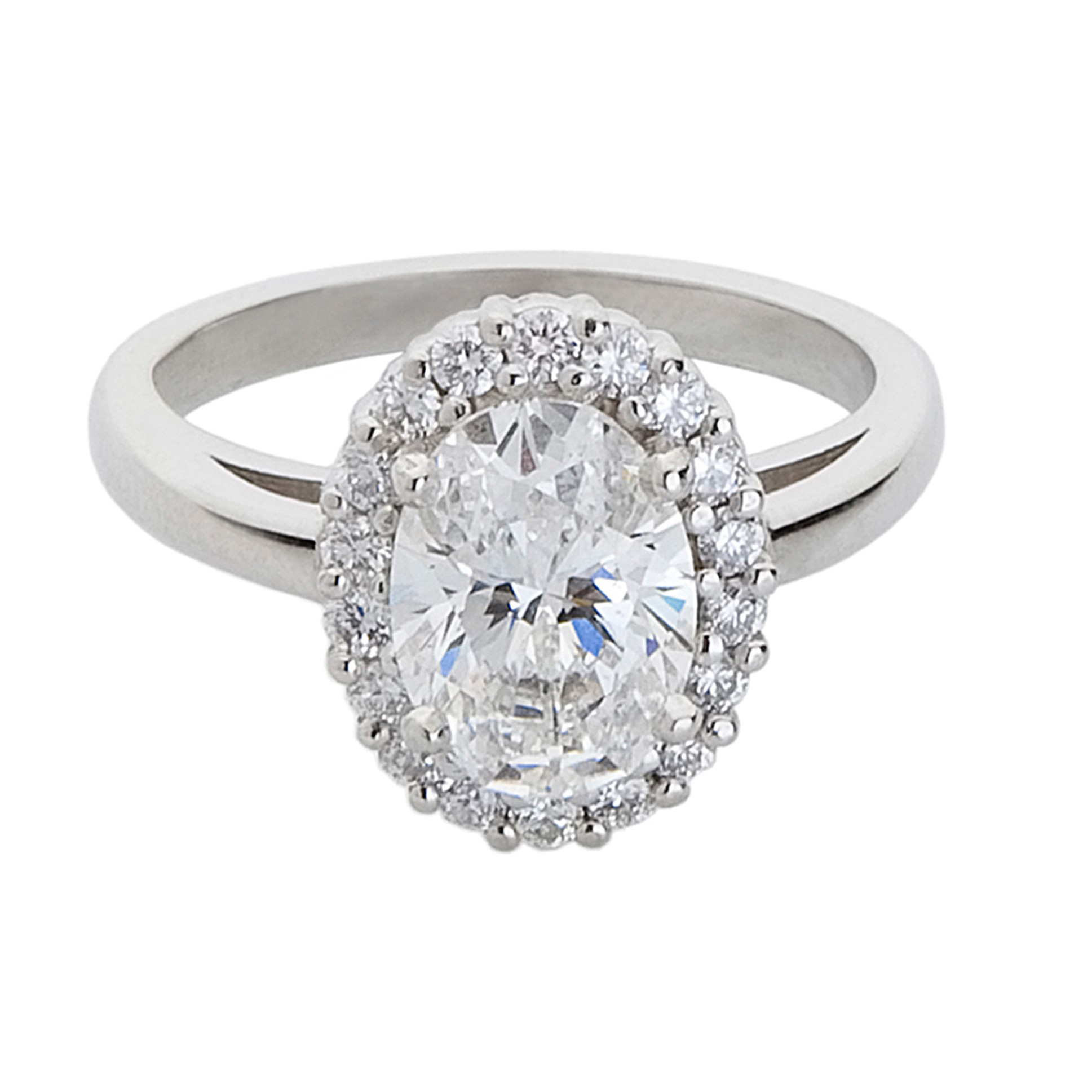 Engagement & Wedding Rings | M. Flynn | Boston Engagement Intended For Recent Prong Set Oval Shaped Diamond Wedding Bands (Gallery 20 of 25)