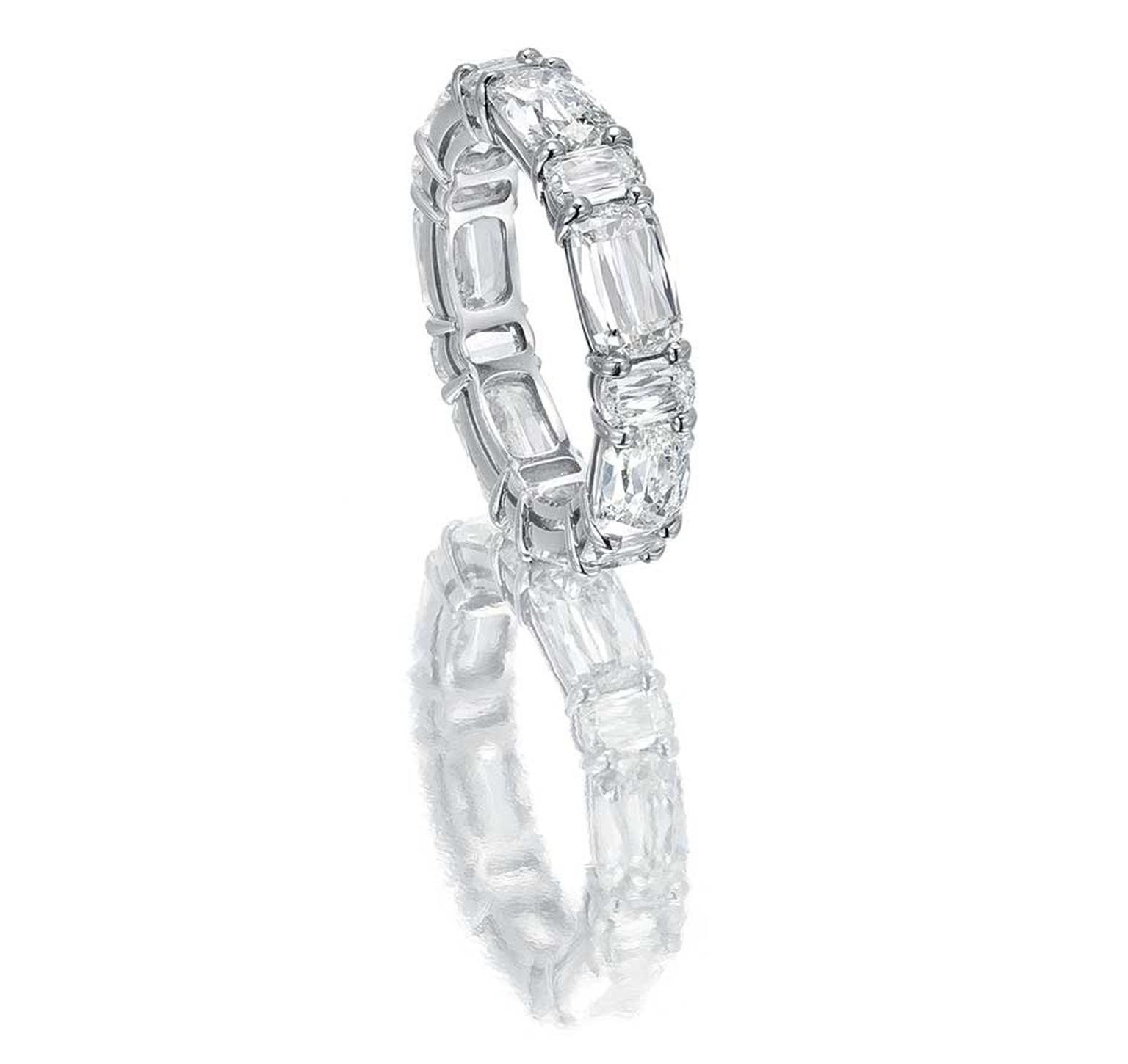 Eternity Rings: A Symbol Of Everlasting Love | The Jewellery With Current Bar Set Round Brilliant And Emerald Cut Diamond Wedding Bands (View 18 of 25)