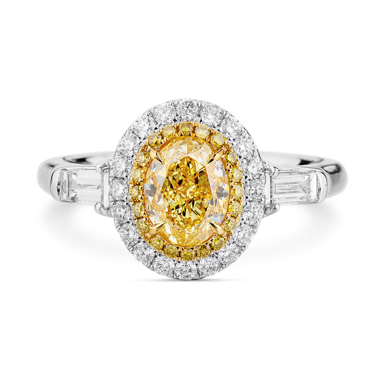 Fancy Yellow Diamond Ring, 1.04 Ct. (1.71 Ct (View 7 of 25)