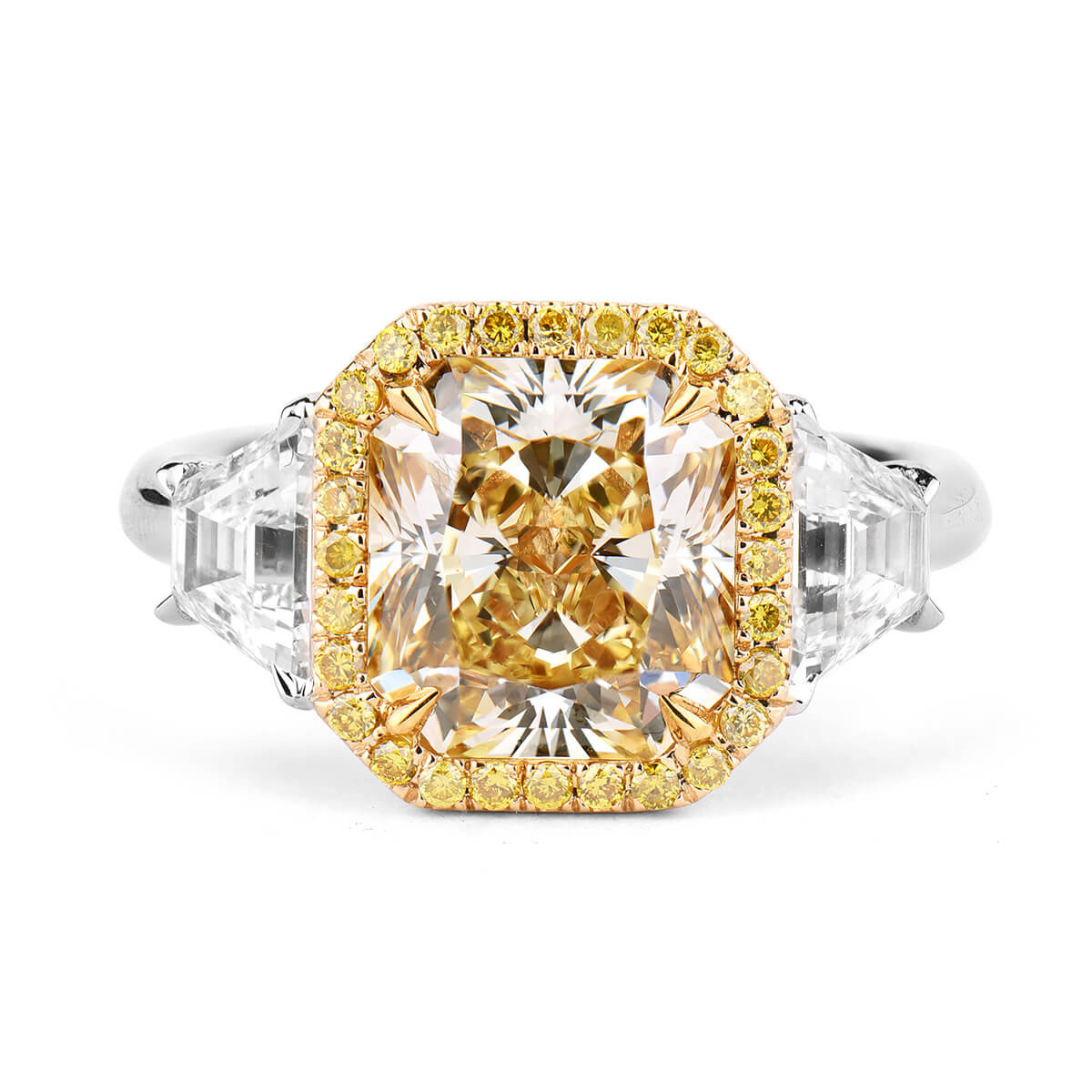 Fancy Yellow Diamond Ring, 3.33 Ct. (4.39 Ct. Tw), Radiant Shape, Gia  Certified, 1182682311 Throughout Radiant Yellow Diamond Rings (Gallery 24 of 25)