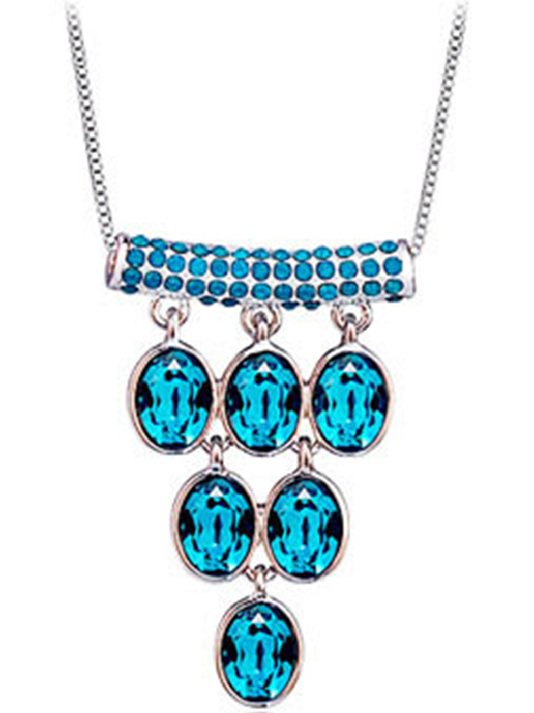 Fashion Necklaces & Pendants Aquamarine Seawater Blue Pertaining To Most Recently Released Reversible Diamond, Sapphire And Aquamarine Pendant Necklaces (View 12 of 25)
