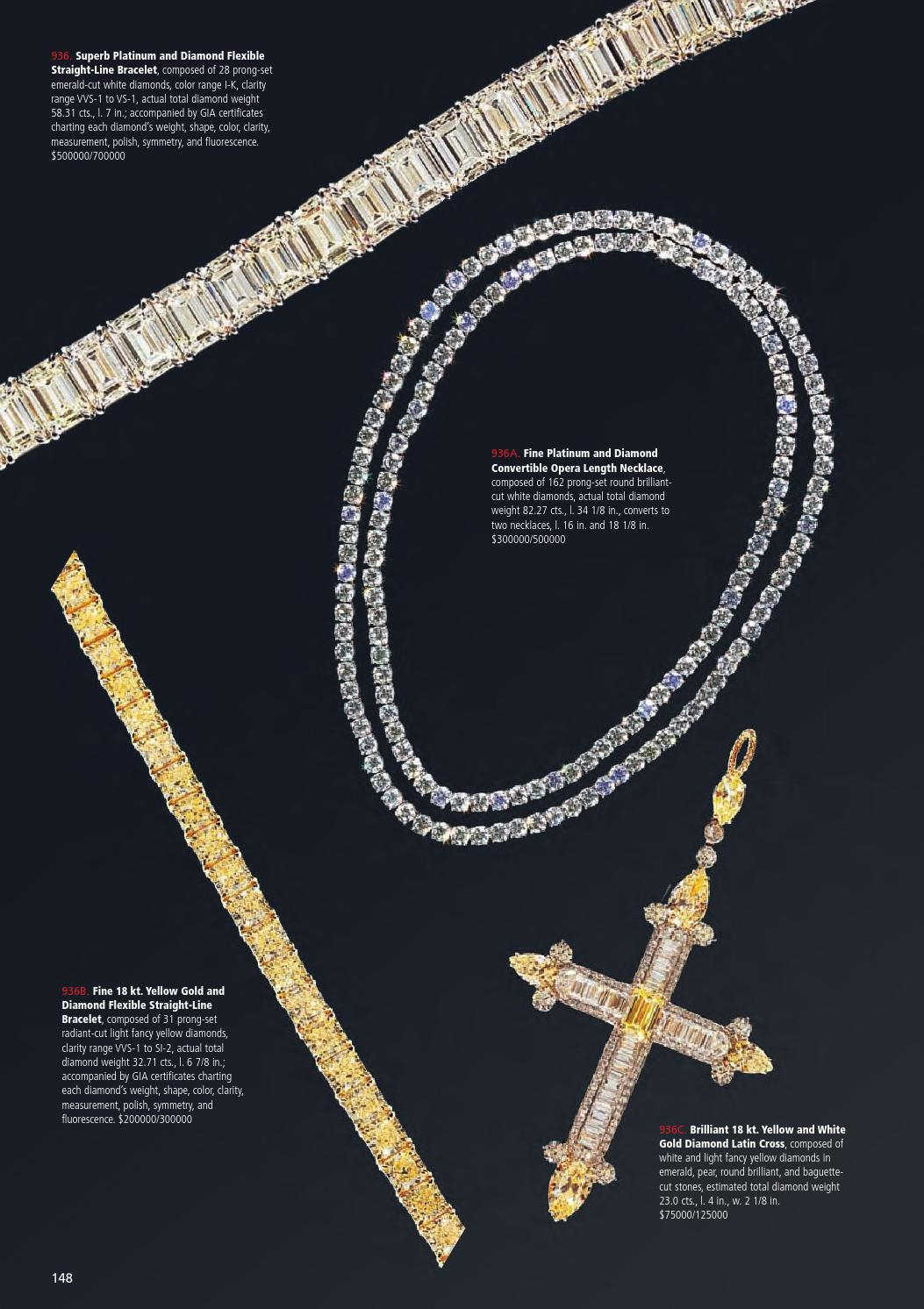 February 19 21, 2016 Winter Estates Auctionneal Auction Intended For Most Popular Round Brilliant Diamond Straightline Necklaces (View 16 of 25)