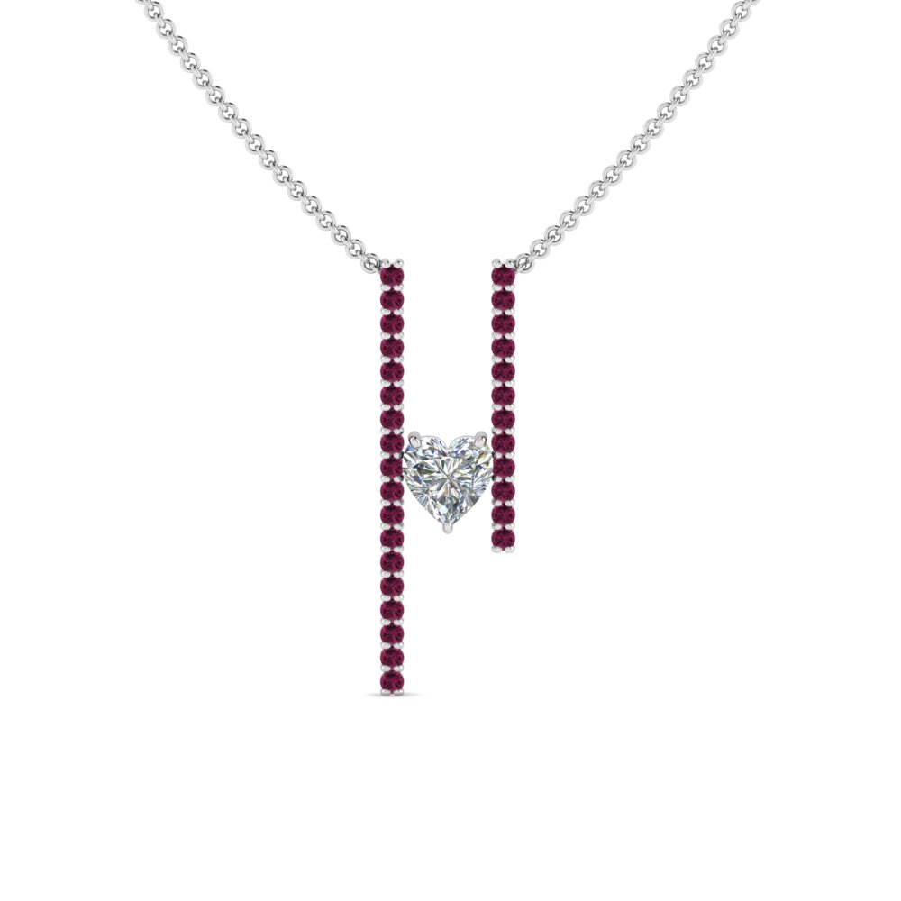 Floating Diamond Necklace Pendant Intended For Latest Lariat Pink Sapphire And Diamond Necklaces (Gallery 11 of 25)
