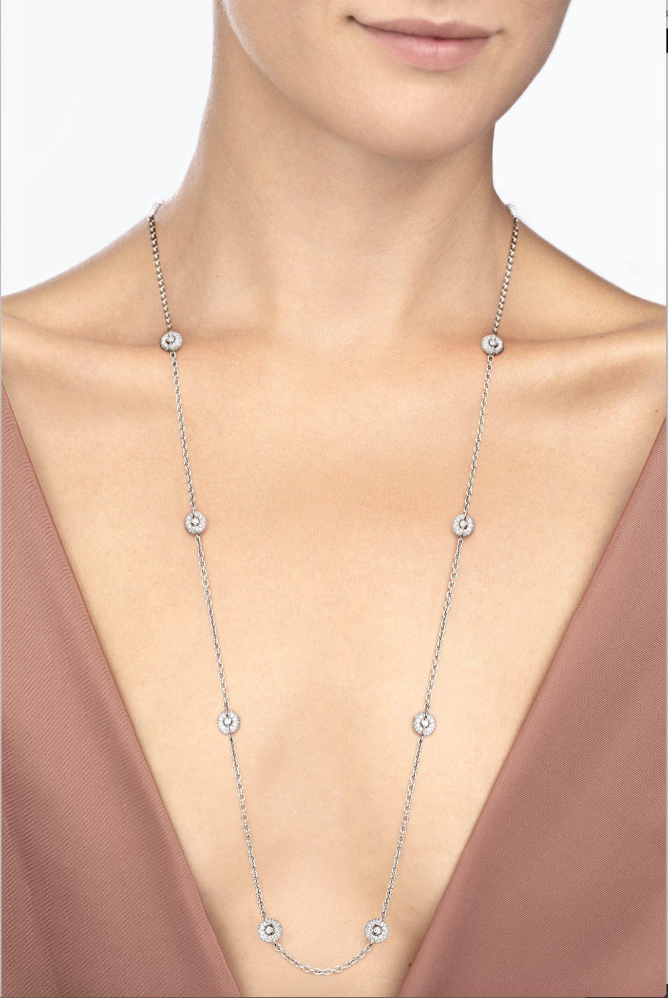 [:fr]Sautoir Diamants Or Gris[:en]White Gold Necklace With Diamonds[:] With Regard To Latest Yellow Gold Diamond Sautoir Necklaces (View 2 of 25)