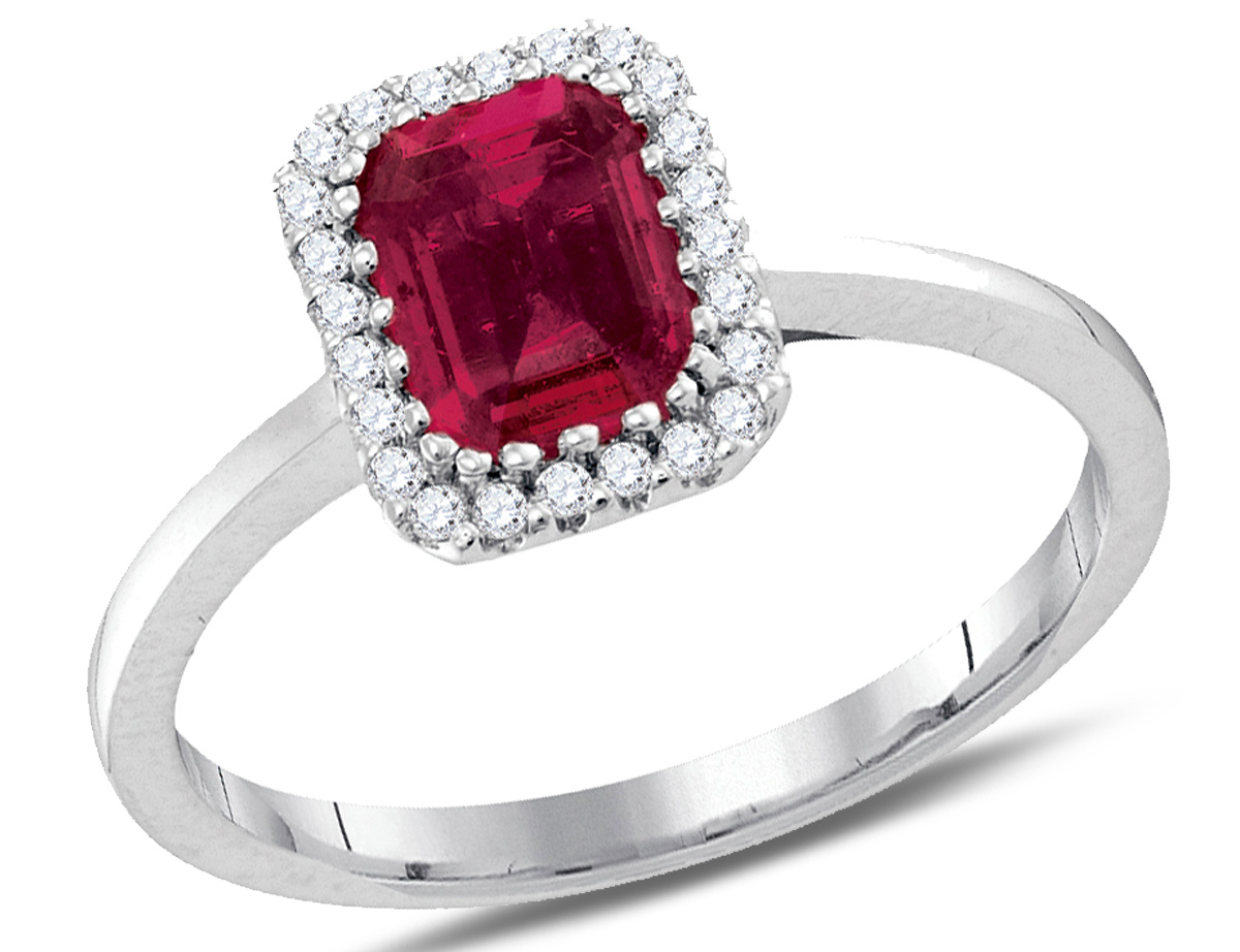 Gem & Harmony: Premium Natural Cushion Cut Ruby Solitaire Ring (View 14 of 25)