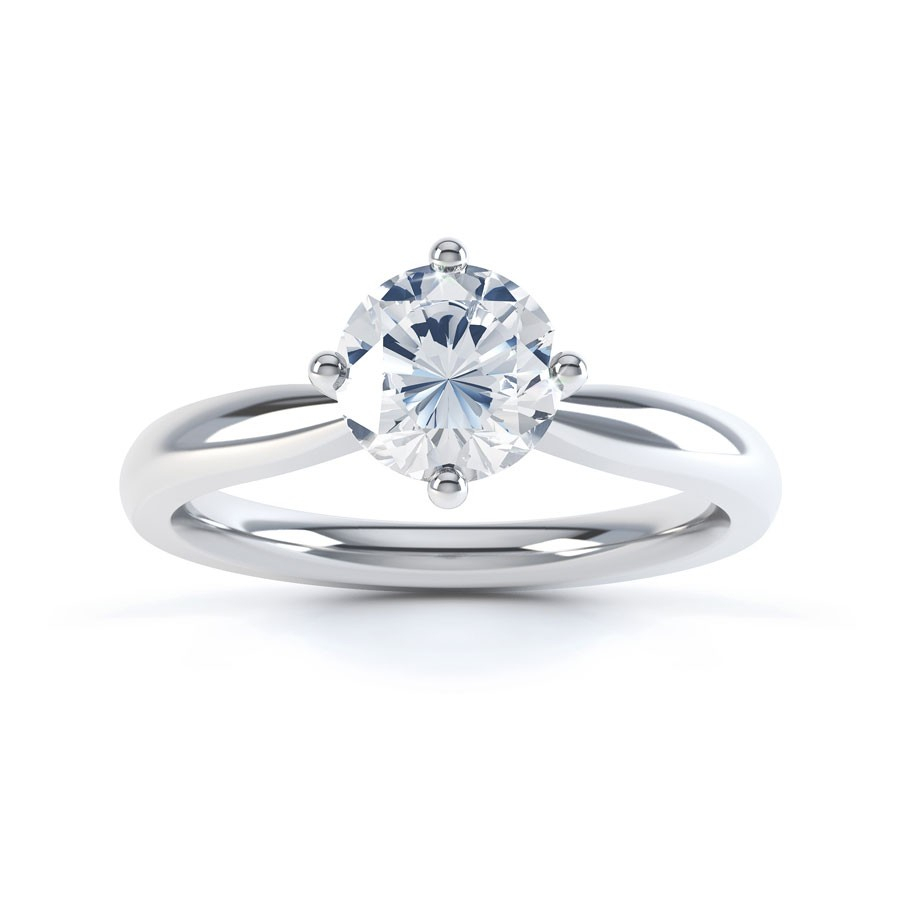 Gia Round Solitaire Engagement Ring 0.30ct (View 6 of 25)