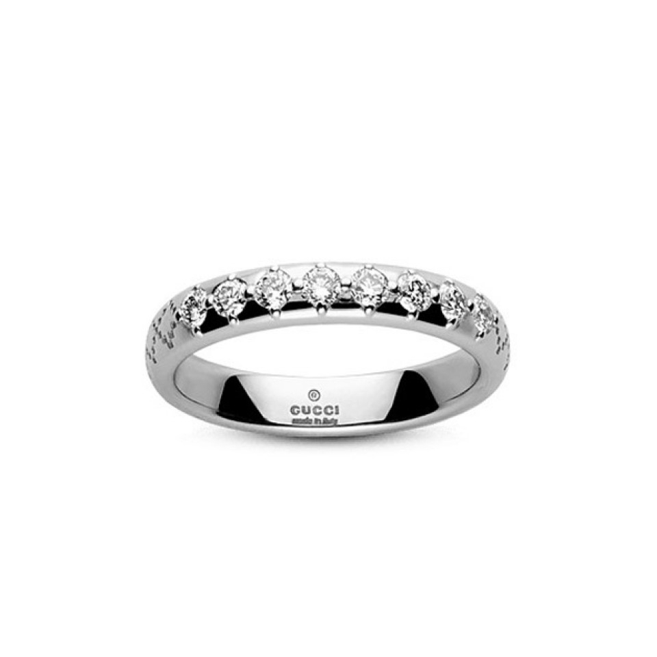Gucci Diamantissima Diamond Ring Inside Most Current Diamond Voilà Wedding Bands (View 10 of 25)