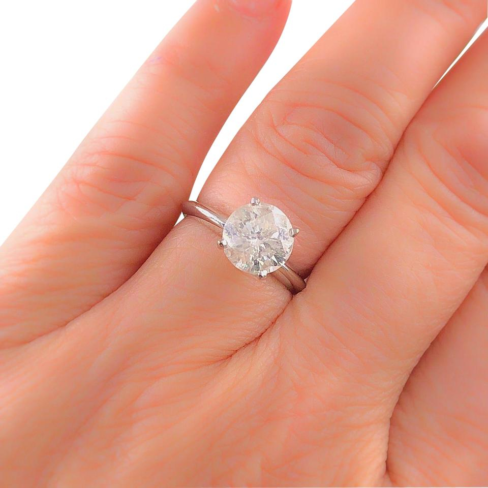 H Round Brilliant Solitaire Diamond 1.76 Cts In 14K Ring 70% Off Retail Pertaining To Solitaire Round Brilliant Engagement Rings (Gallery 23 of 25)