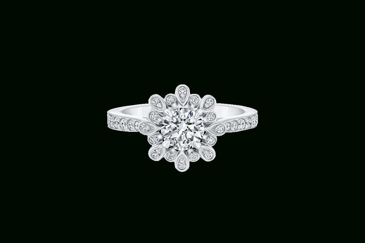 Harry Winston Blossom, White Gold Diamonds | Rings | Luxury Regarding Winston Blossom Diamond Engagement Rings (View 4 of 25)