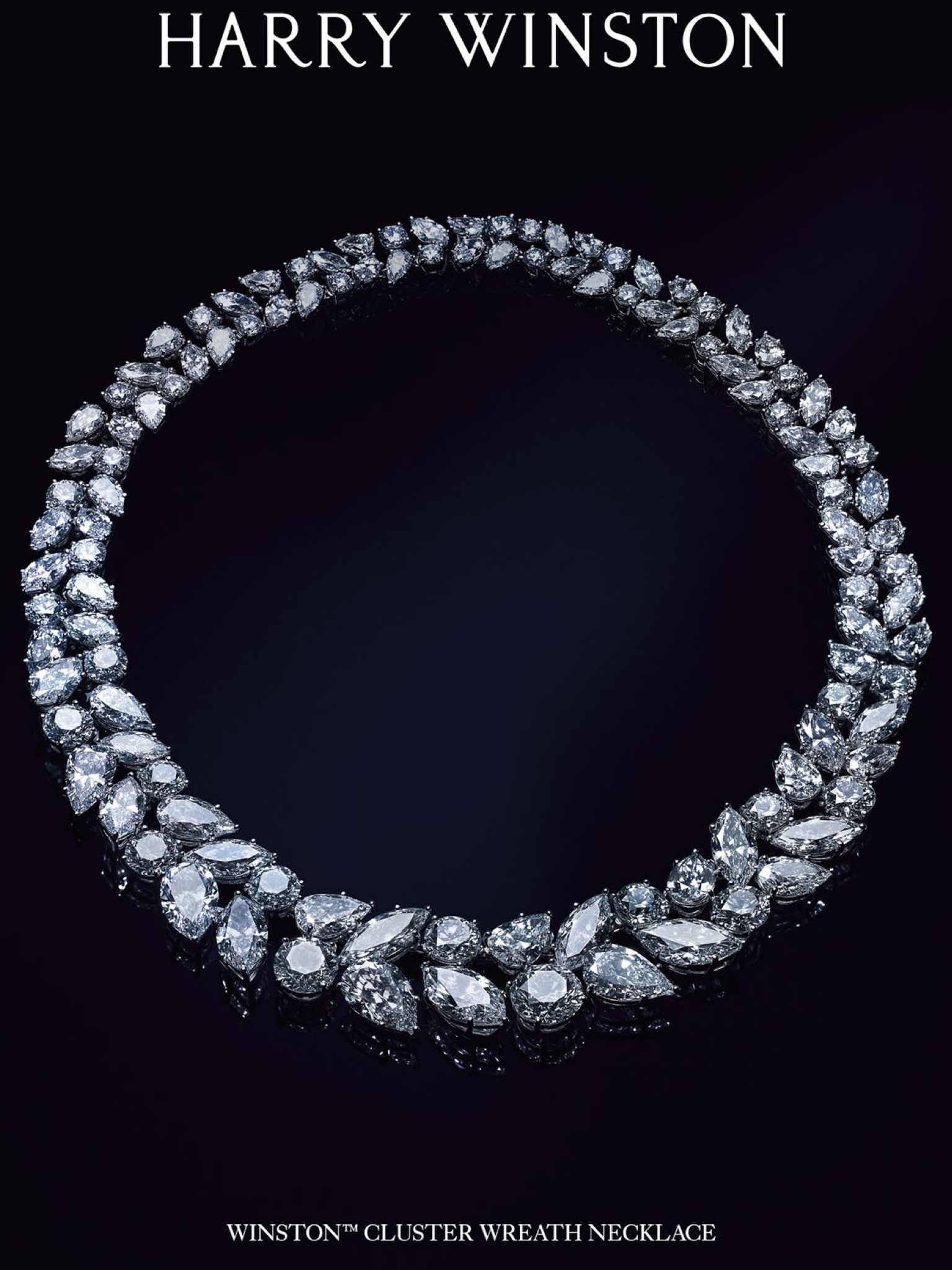 Harry Winston Cluster Wreath Necklace | Wreath Necklaces In Pertaining To Latest Diamond Wreath Necklaces (View 4 of 25)