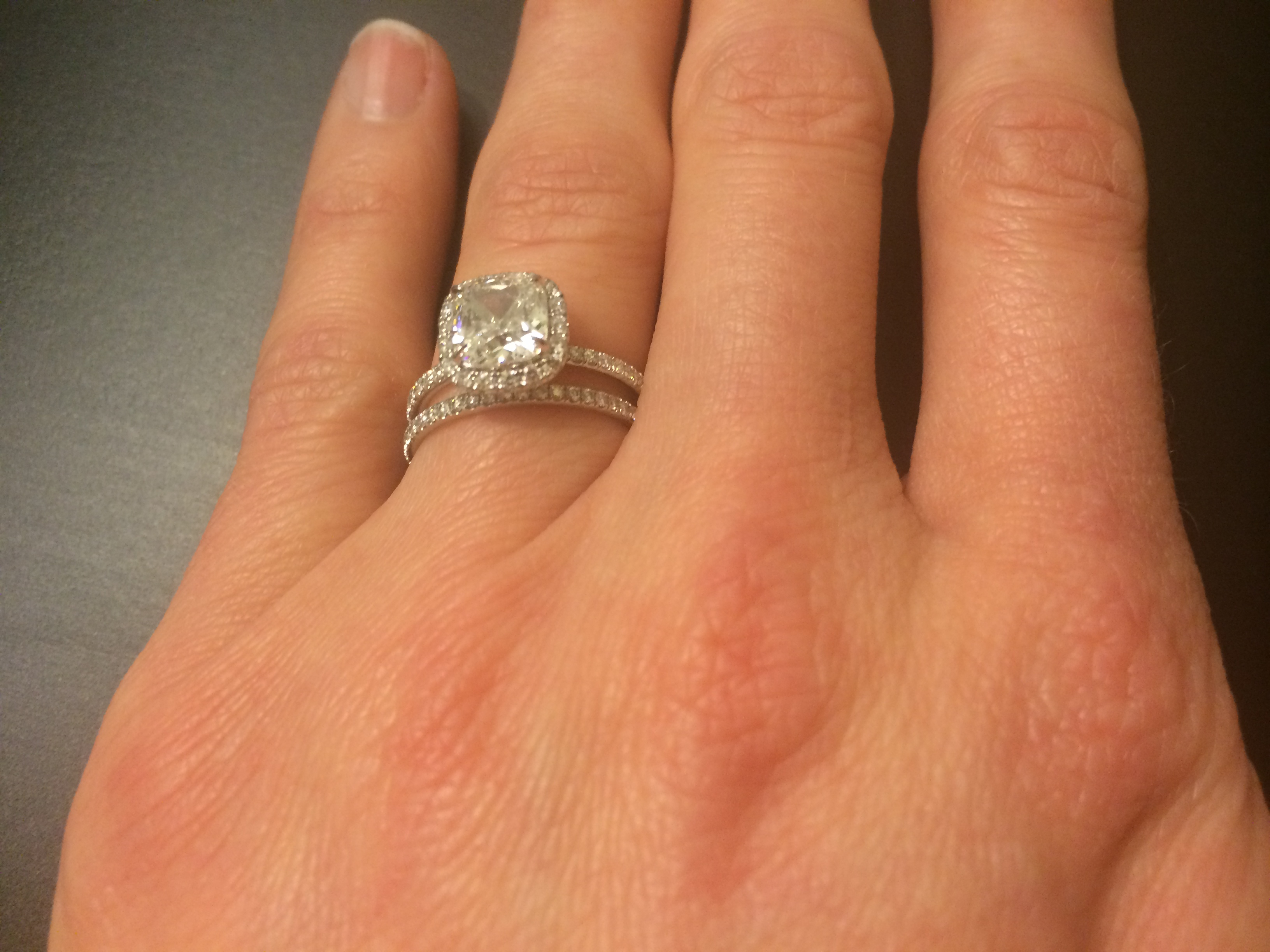 Harry Winston Cushion Cut Micropave (View 12 of 25)